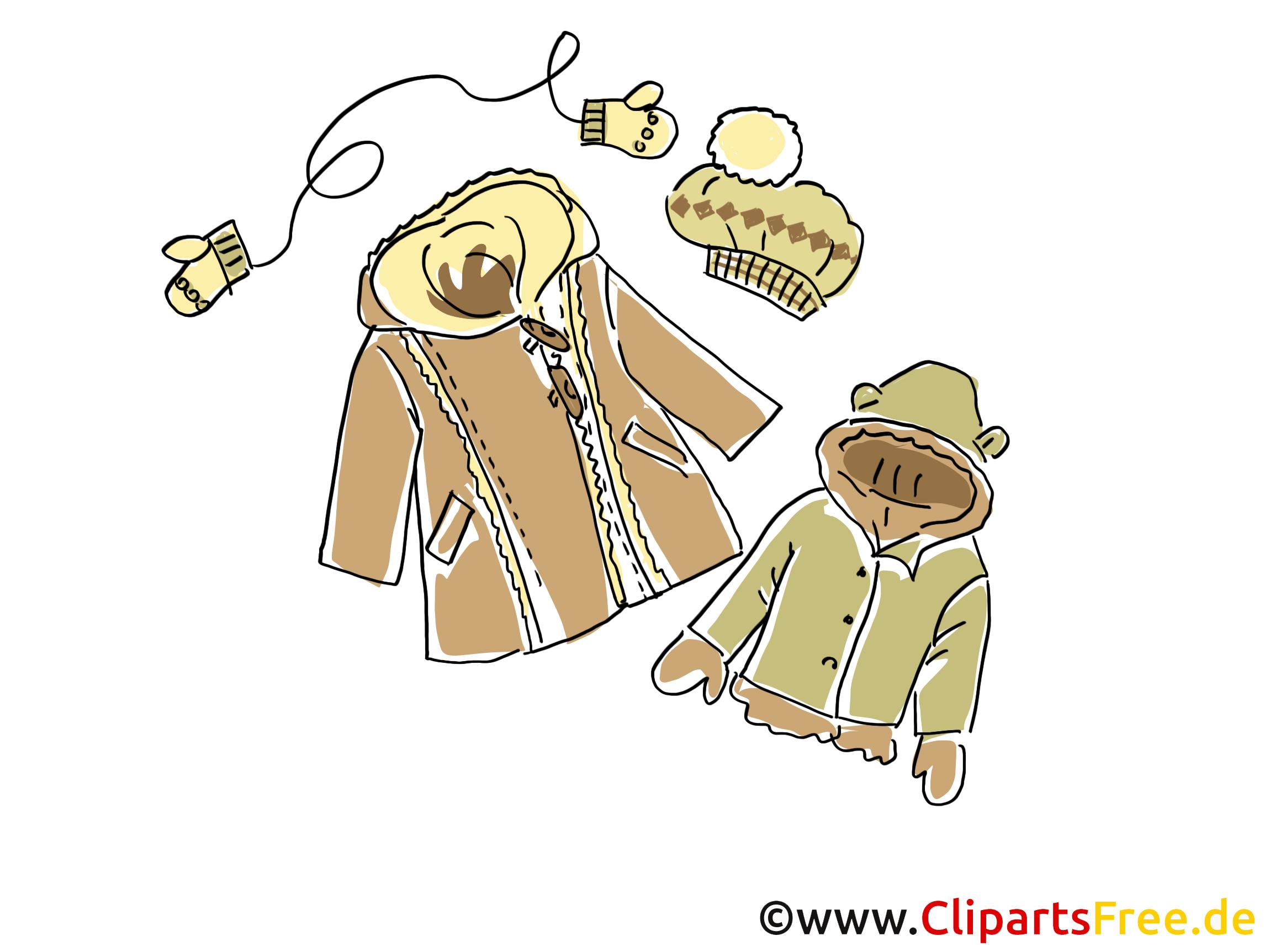 Vêtements d'hiver clip arts gratuits illustrations