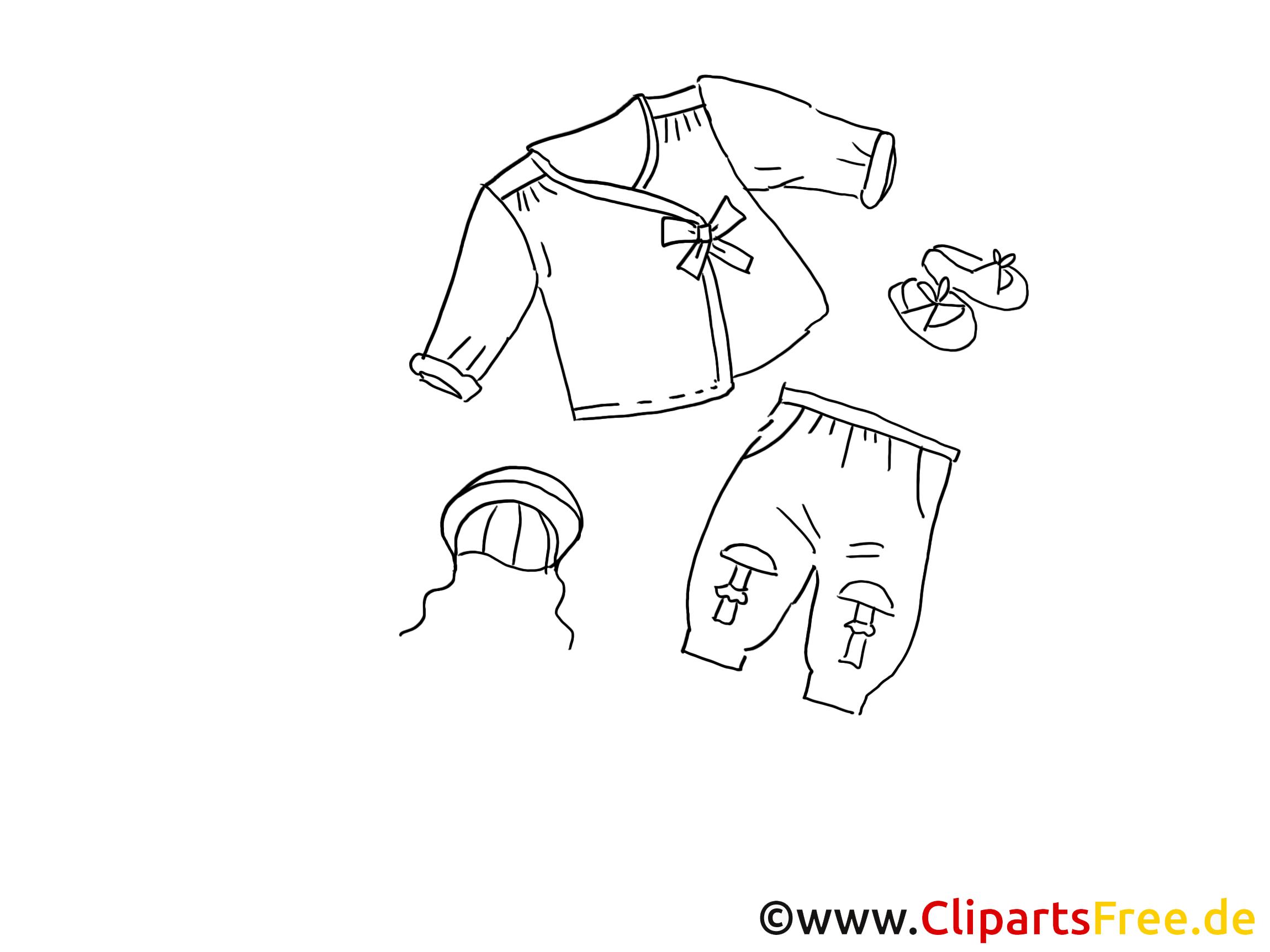 Vêtements pour enfants dessin clip arts gratuits