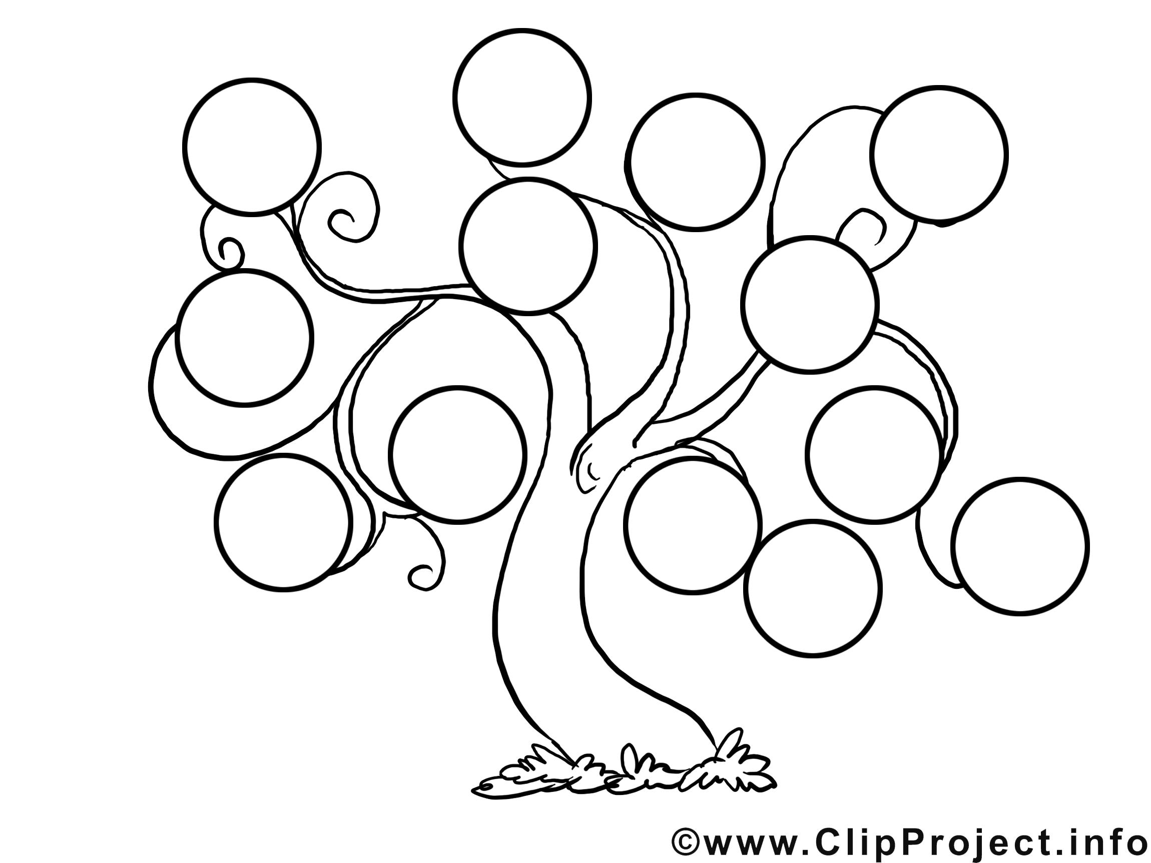 Dessin gratuit arbre généalogique image