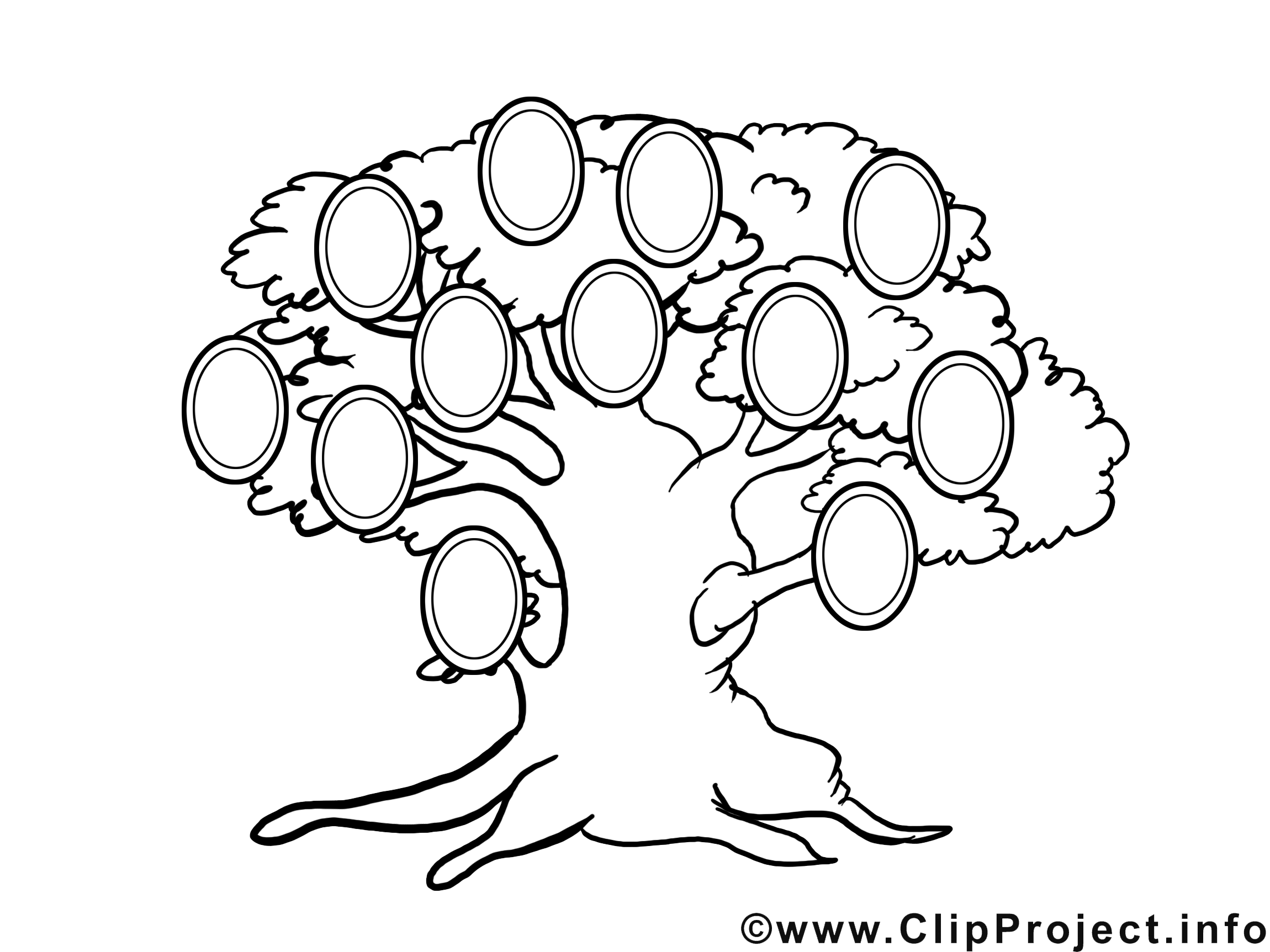 Illustration gratuite arbre généalogique clipart