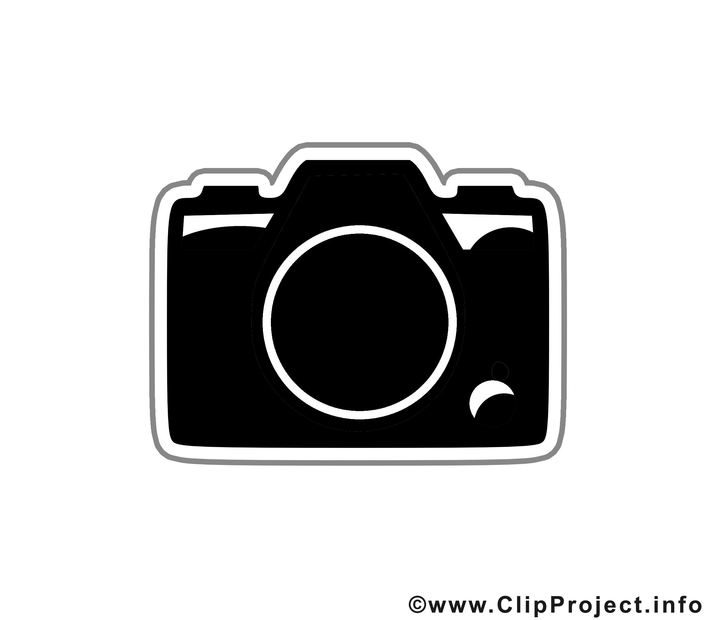 Appareil photo image - Noir et blanc clipart
