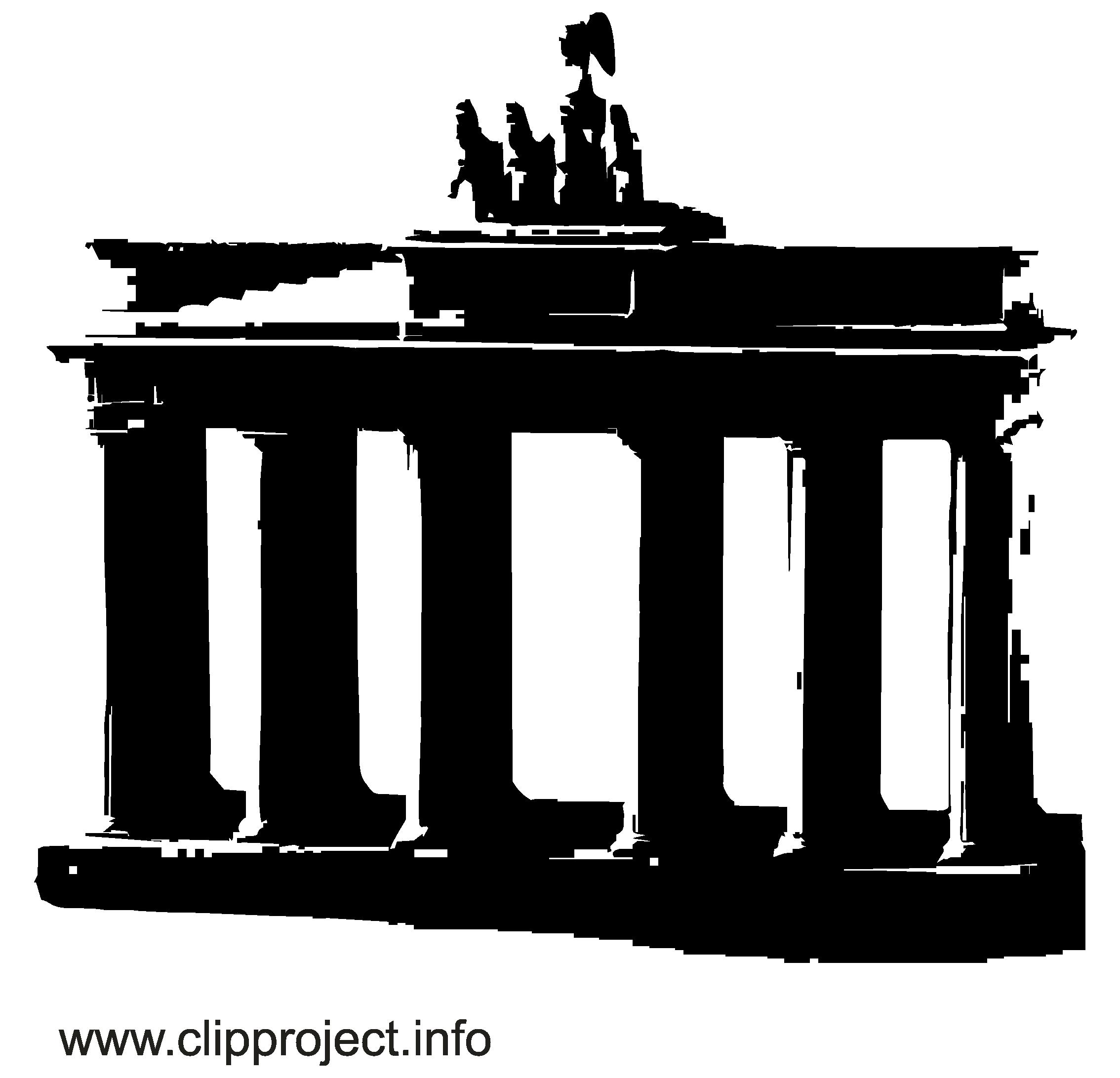 Berlin image gratuite - Noir et blanc illustration