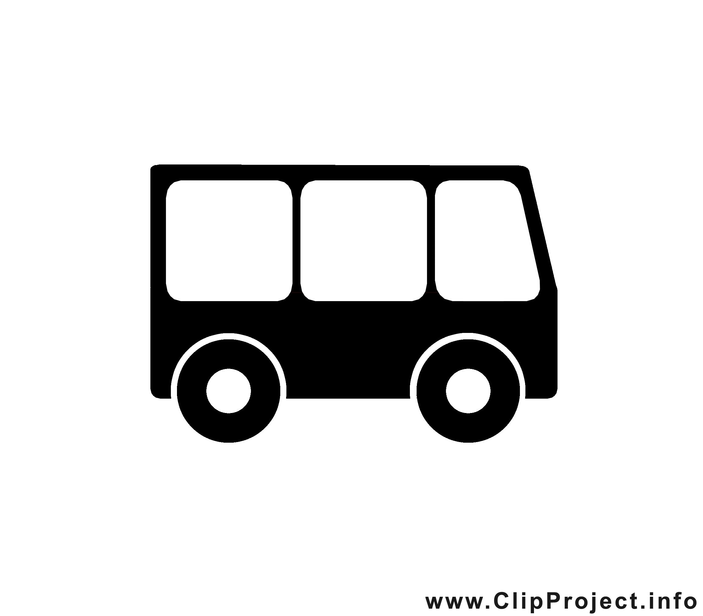Bus image gratuite - Noir et blanc illustration