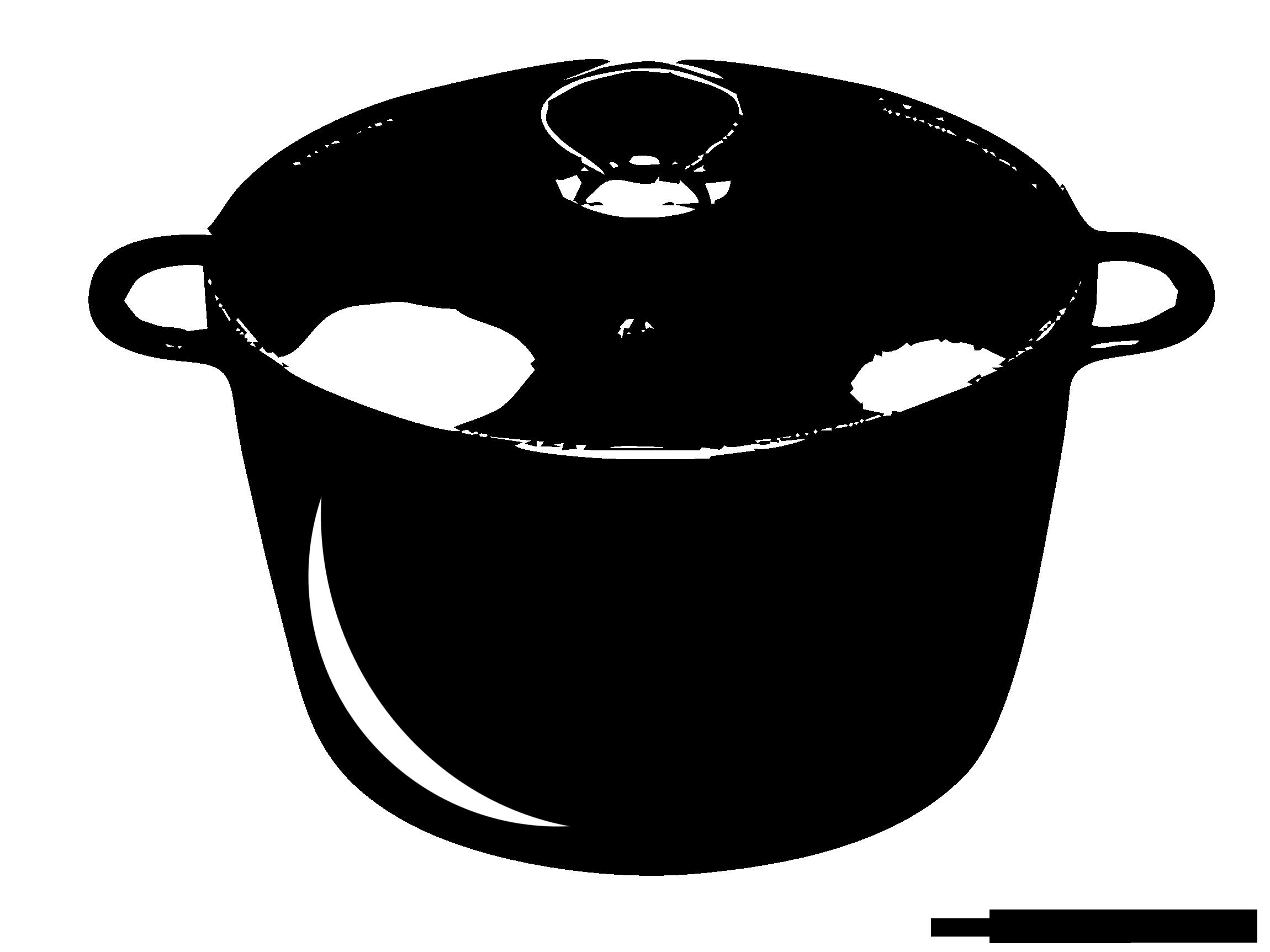 Casserole image t l charger noir et blanc clipart - Casserole dessin ...