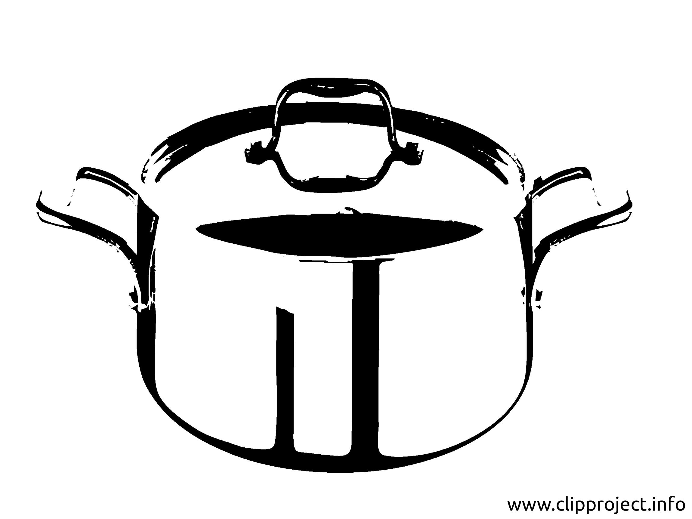 Casserole images - Noir et blanc dessins gratuits