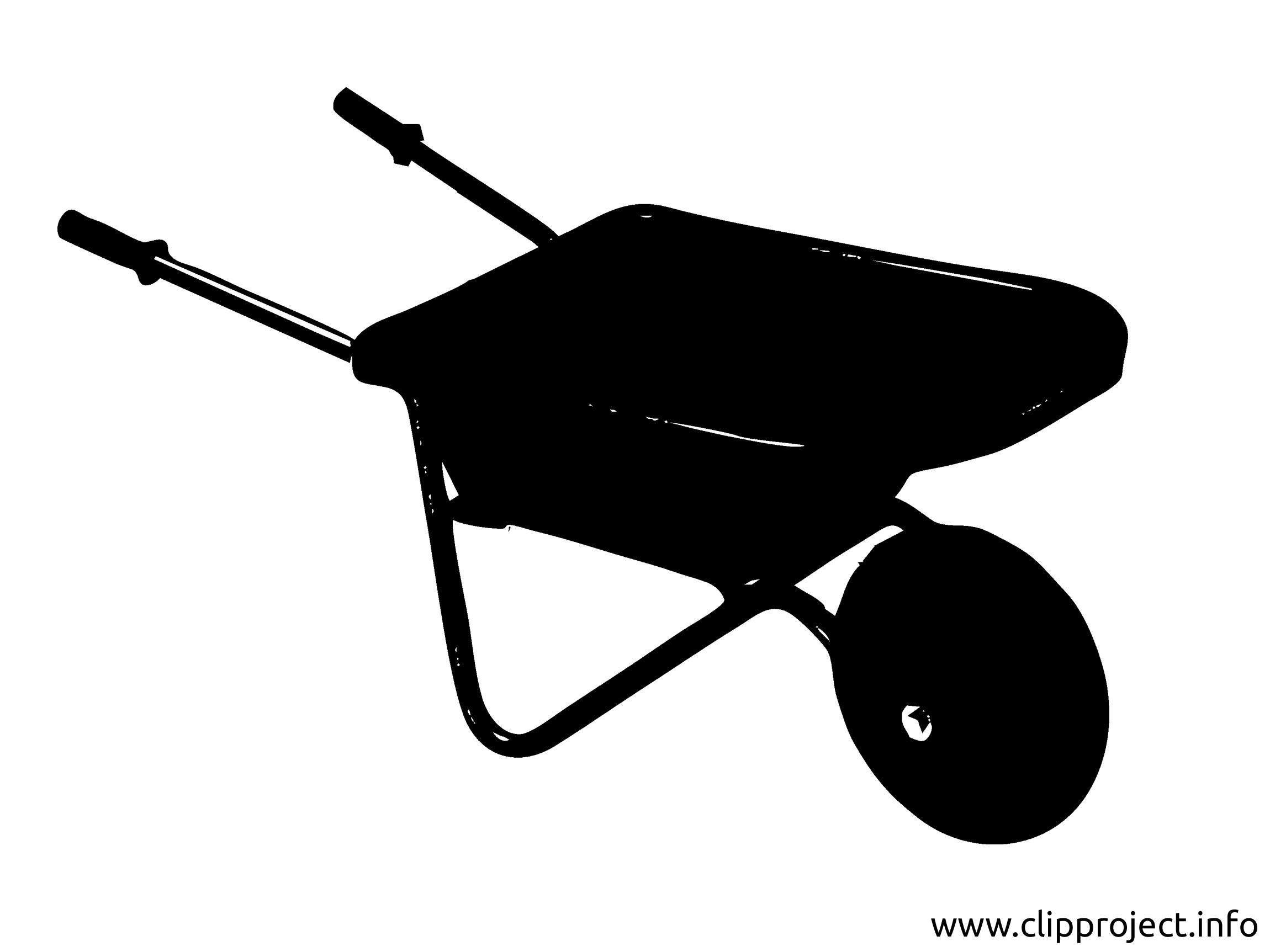 Chariot clip art gratuit - Noir et blanc dessin