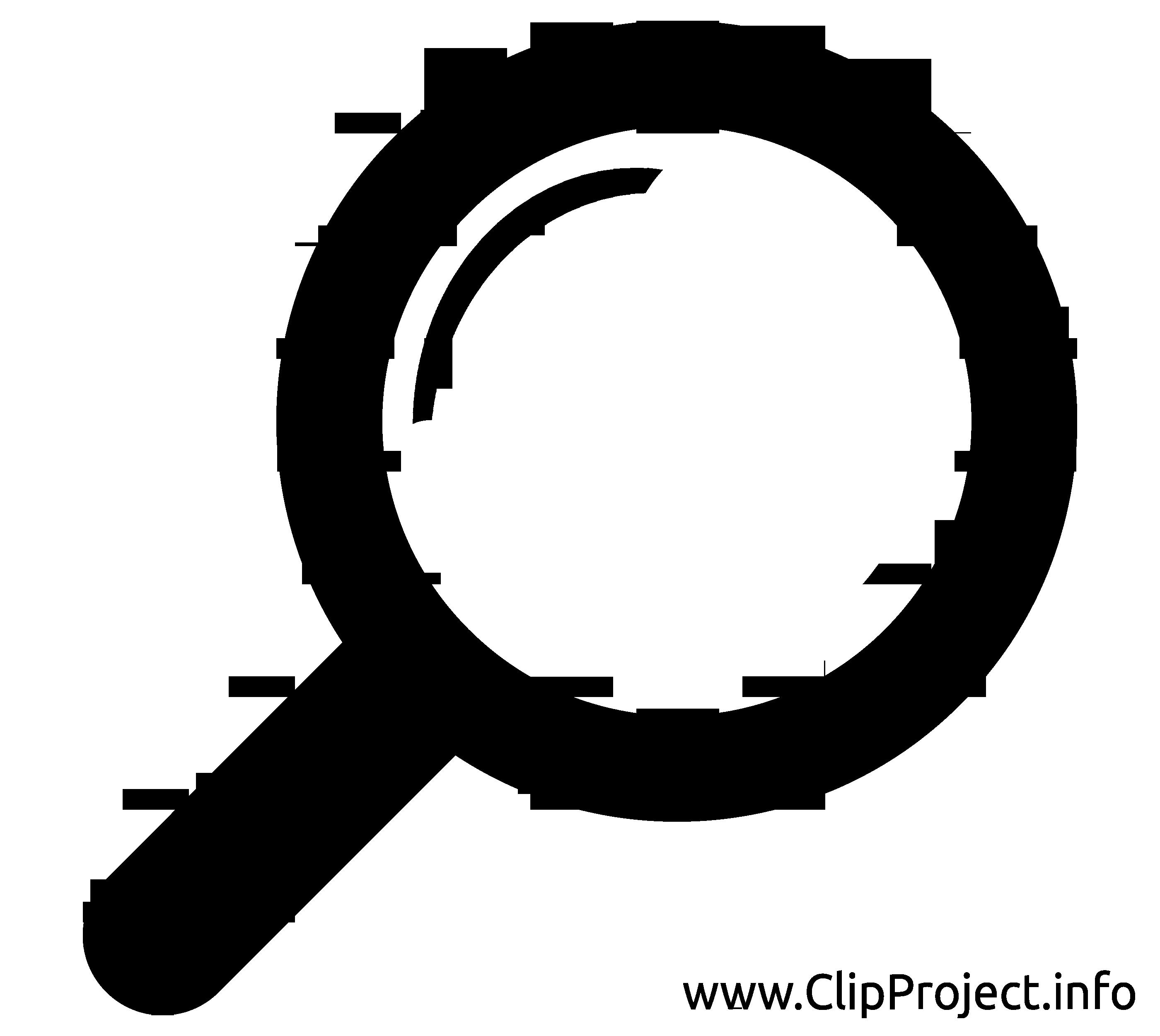 Loupe image gratuite - Noir et blanc cliparts