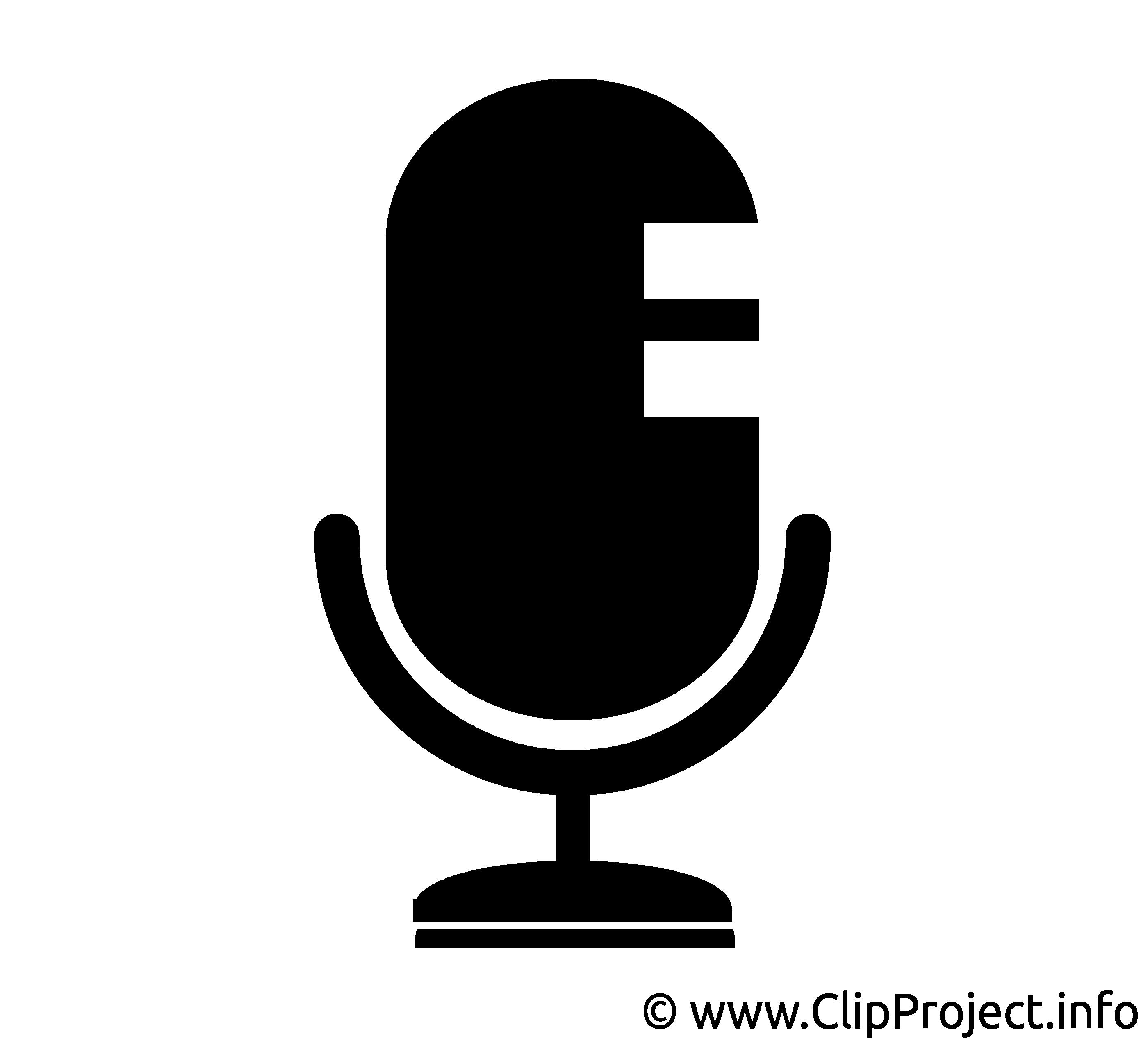 Microphone dessin gratuit - Noir et blanc image