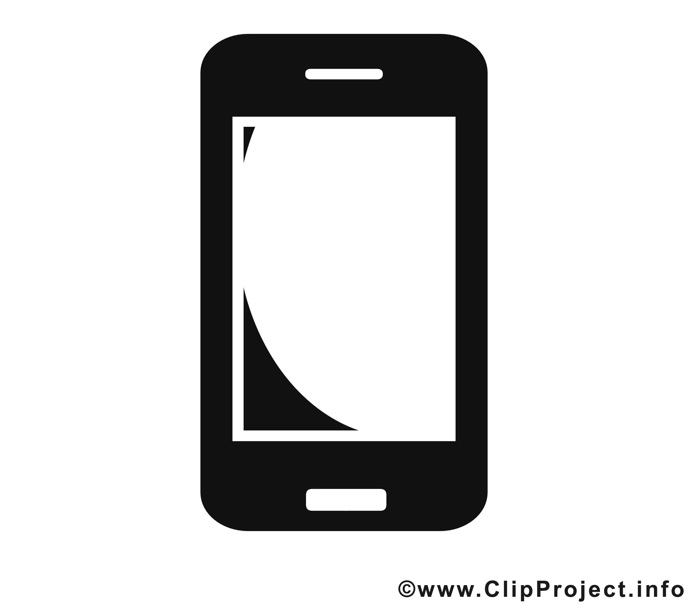 Smartphone clipart - Noir et blanc dessins gratuits