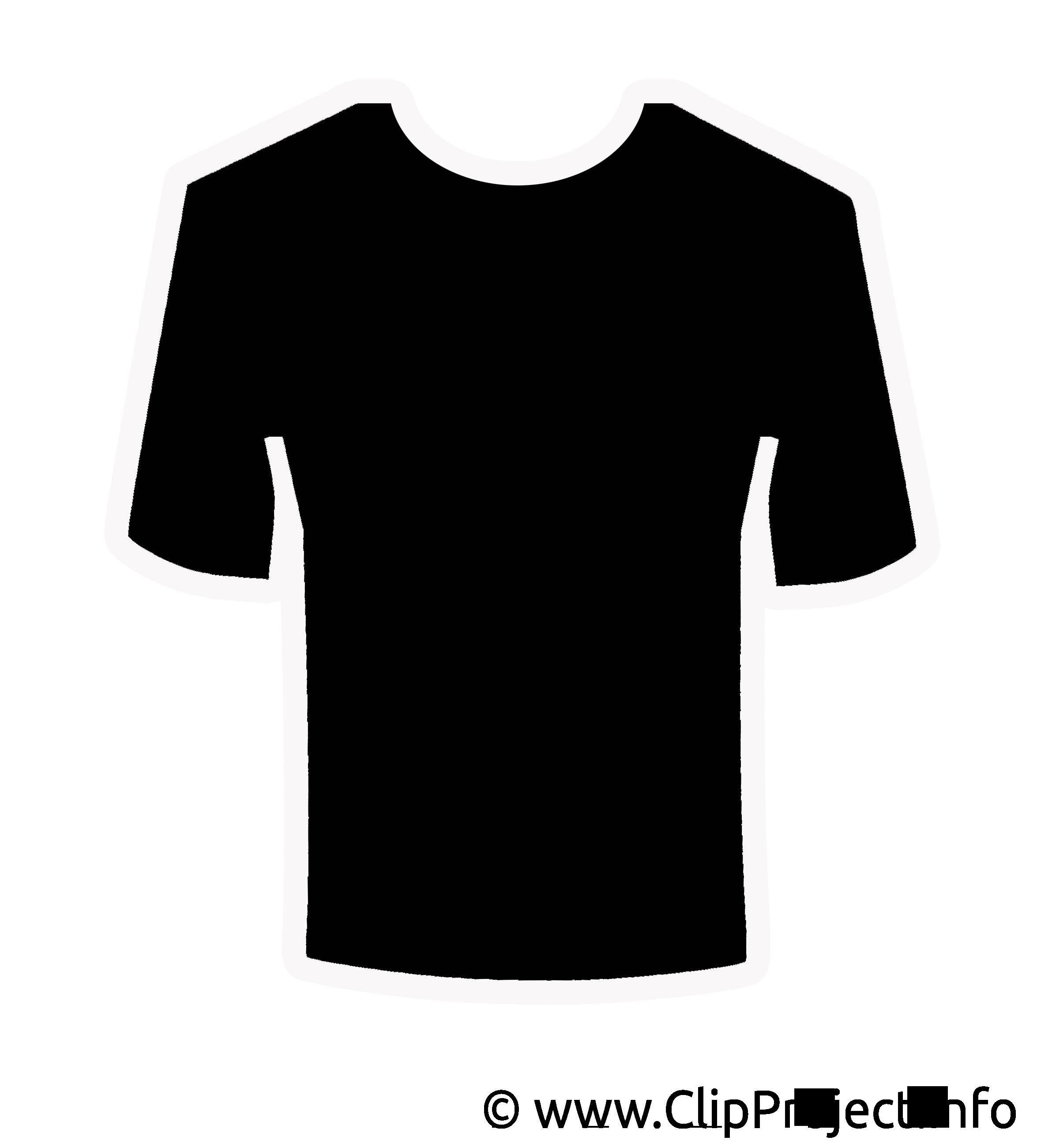 T-shirt cliparts gratuis - Noir et blanc images