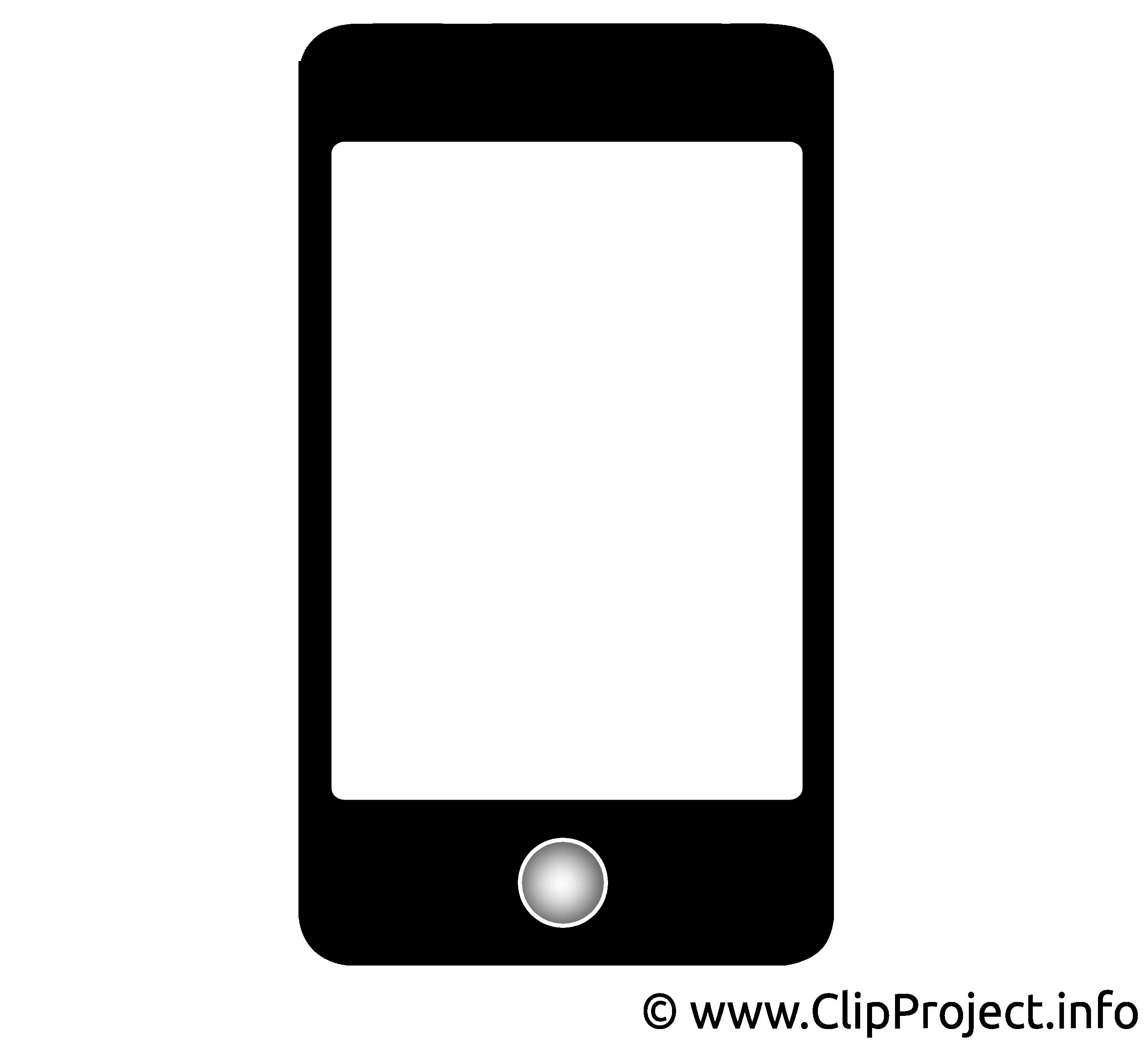 Tablette clip arts gratuits - Noir et blanc illustrations