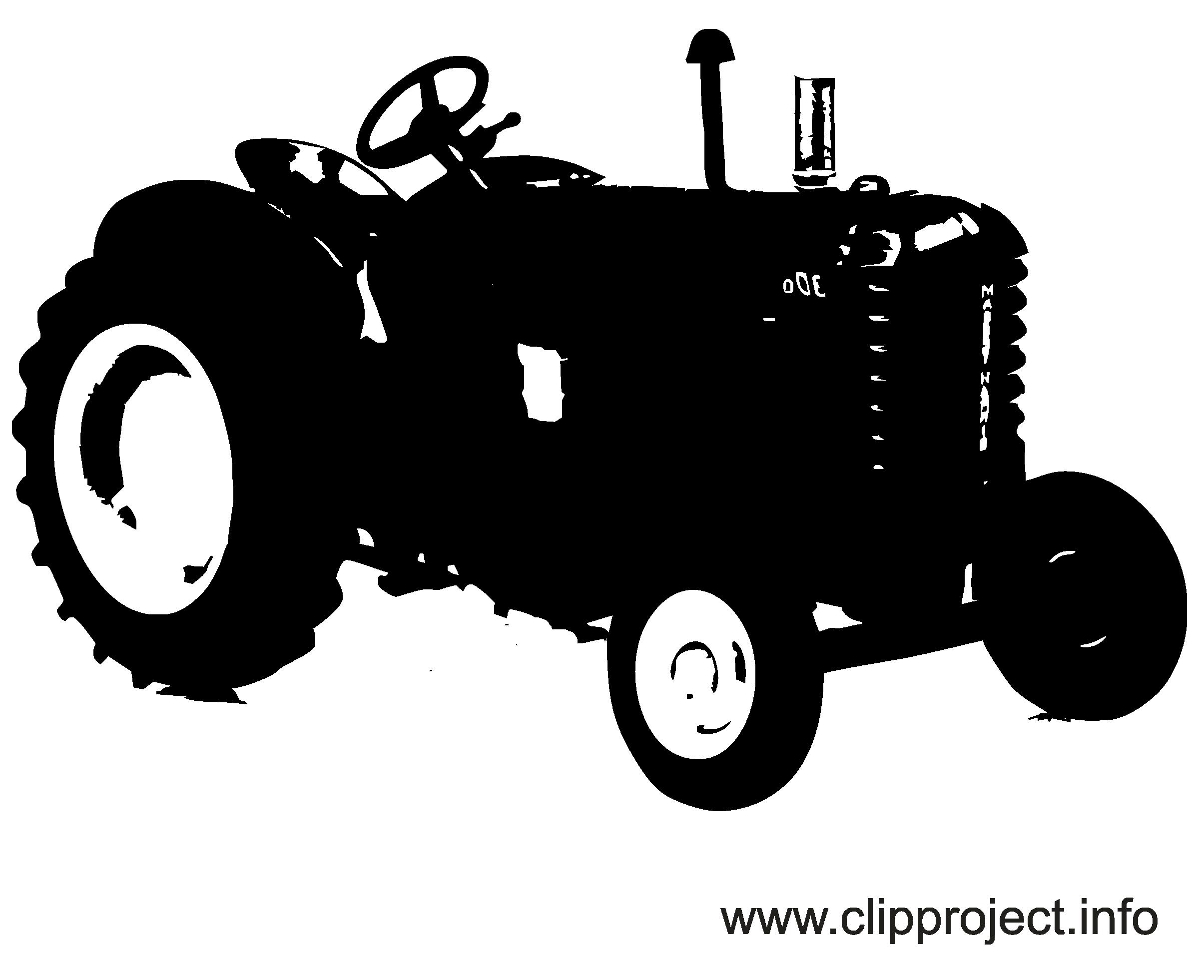 Tracteur clipart gratuit - Noir et blanc images