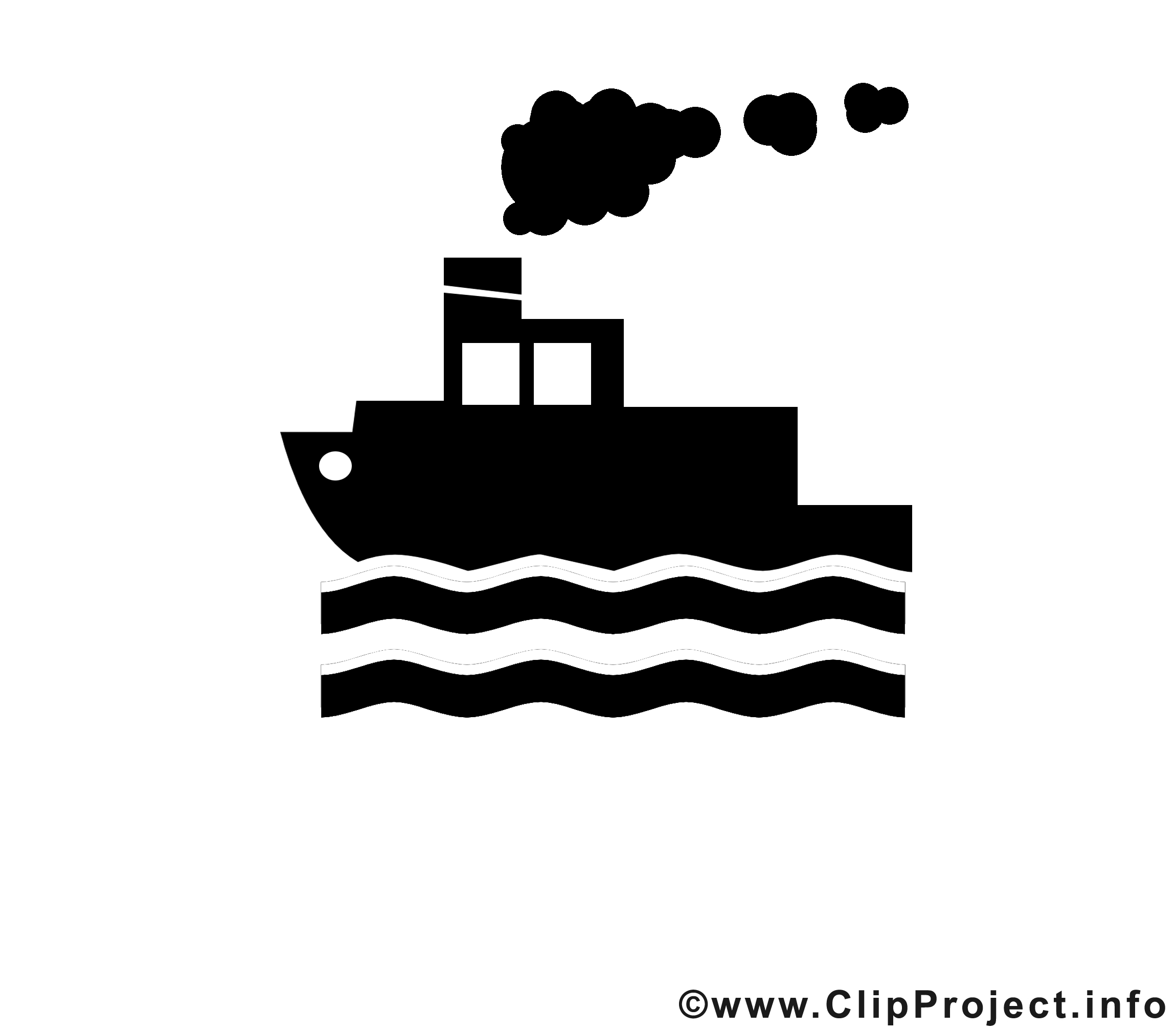 Vapeur image gratuite - Noir et blanc illustration