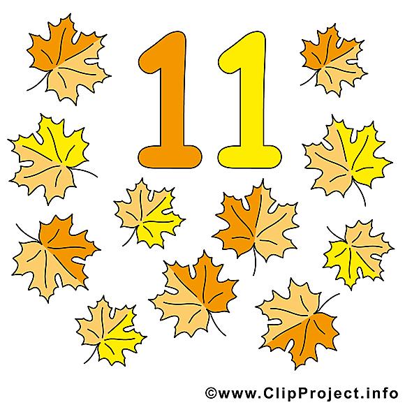 11 feuilles clipart gratuit - Nombre dessins gratuits