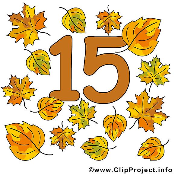 15 feuilles clip art gratuit – Nombre images gratuites