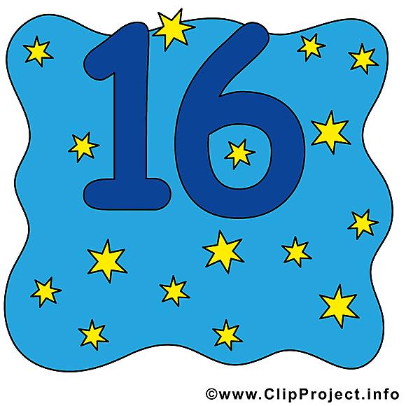 16 étoiles clipart gratuit - Nombre images