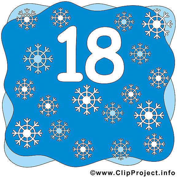 18 flocons nombre image à télécharger gratuite