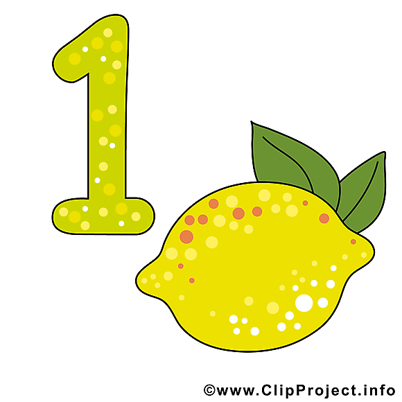 1 citron image à télécharger - Nombre clipart