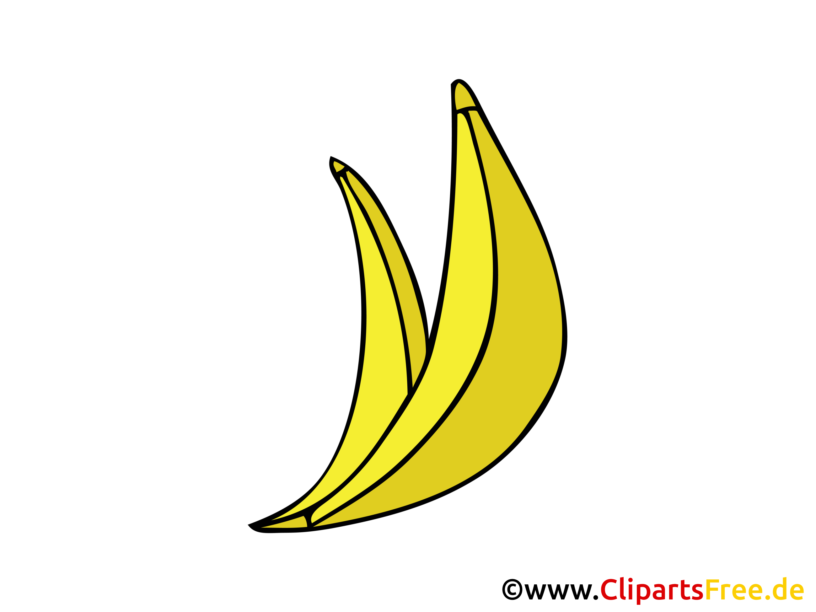Bananes dessins gratuits - Nourriture clipart