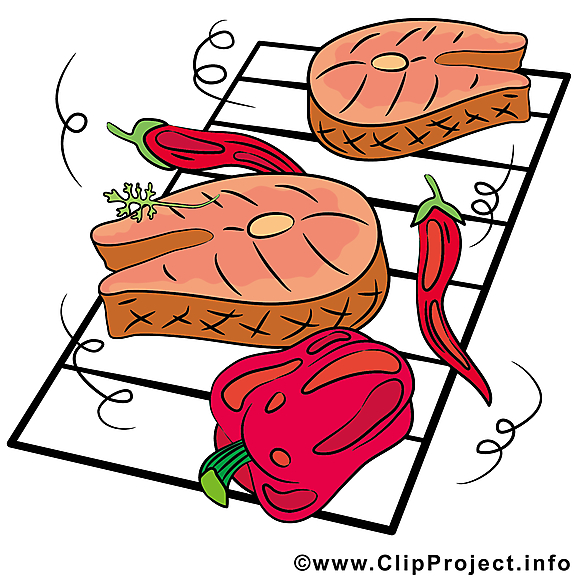 Barbecue clip arts gratuits - Nourriture illustrations