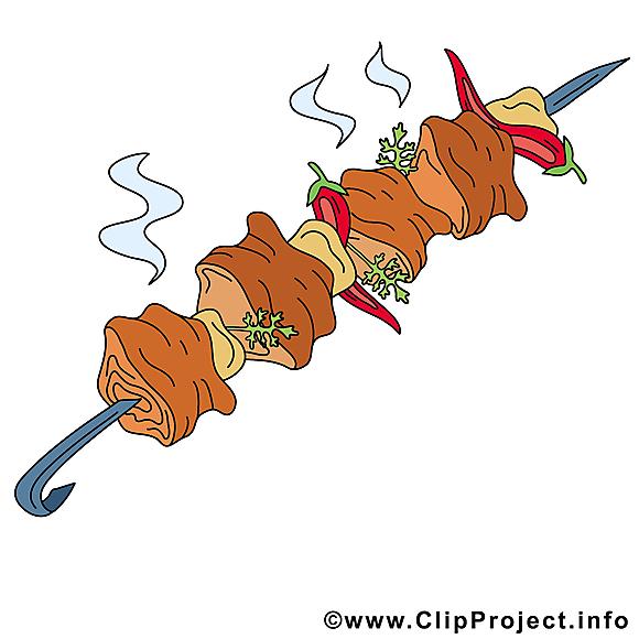Chachlyk clipart gratuit - Nourriture images