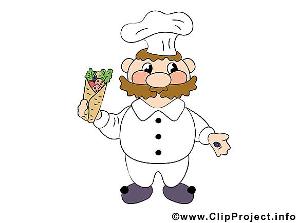 Clip art gratuit cuisinier Nourriture dessin