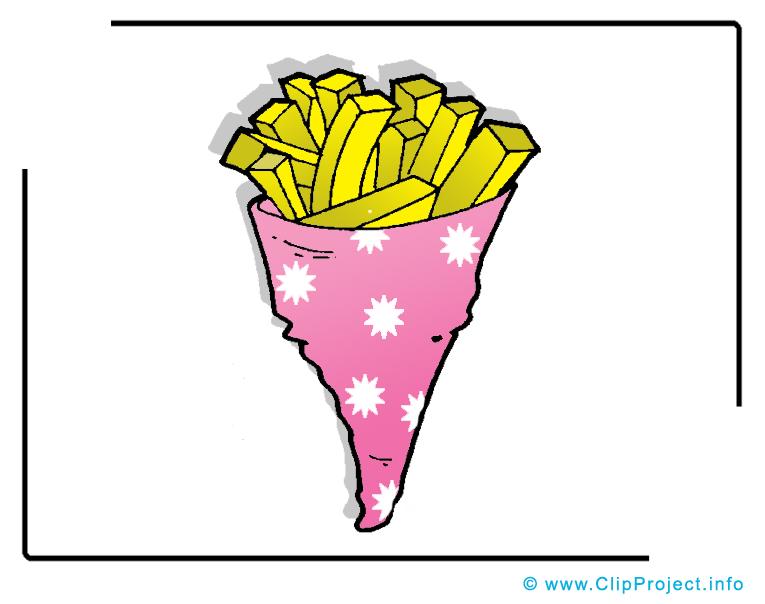Frites dessin à télécharger - Nourriture images