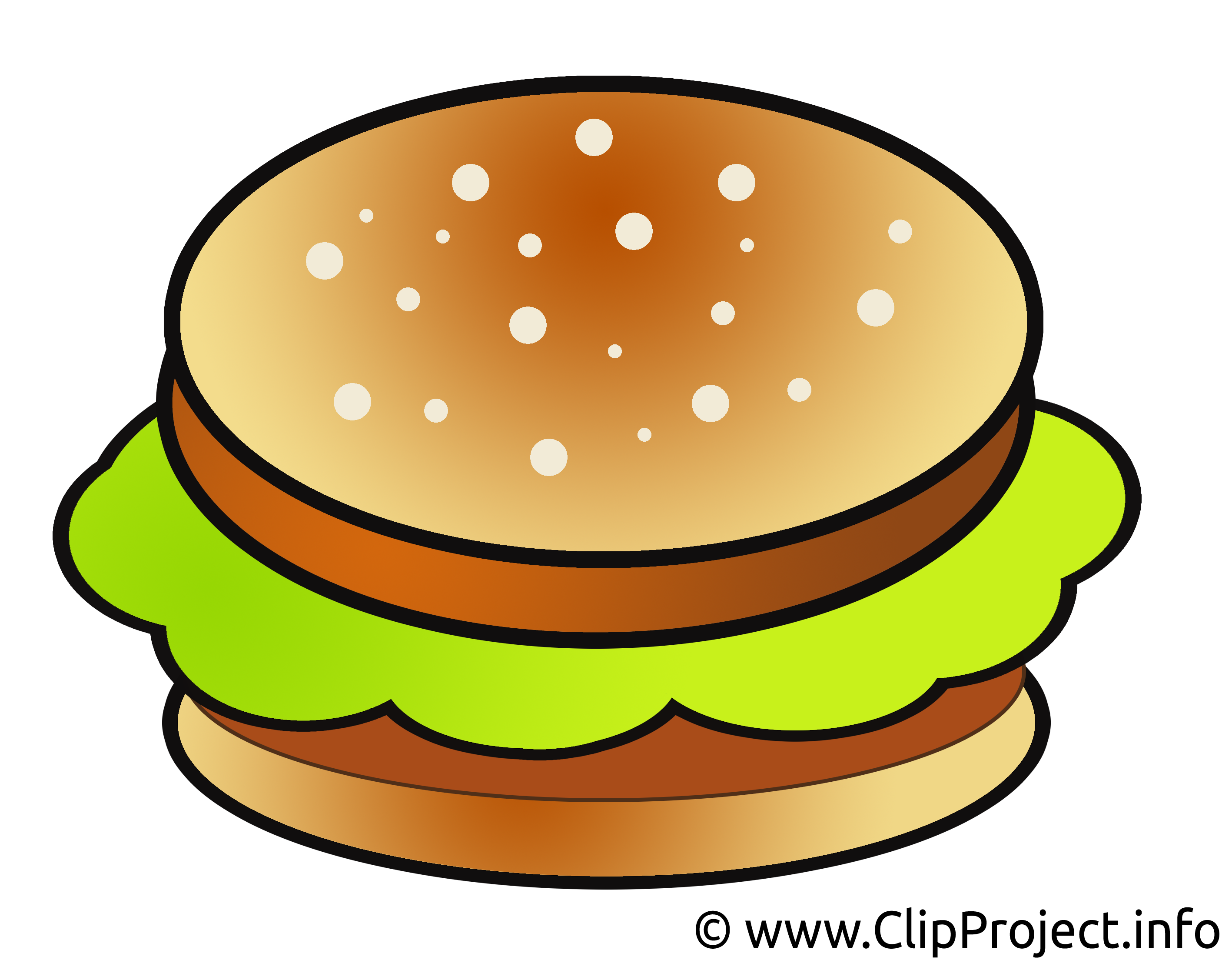 Hamburger clip arts - Nourriture illustrations