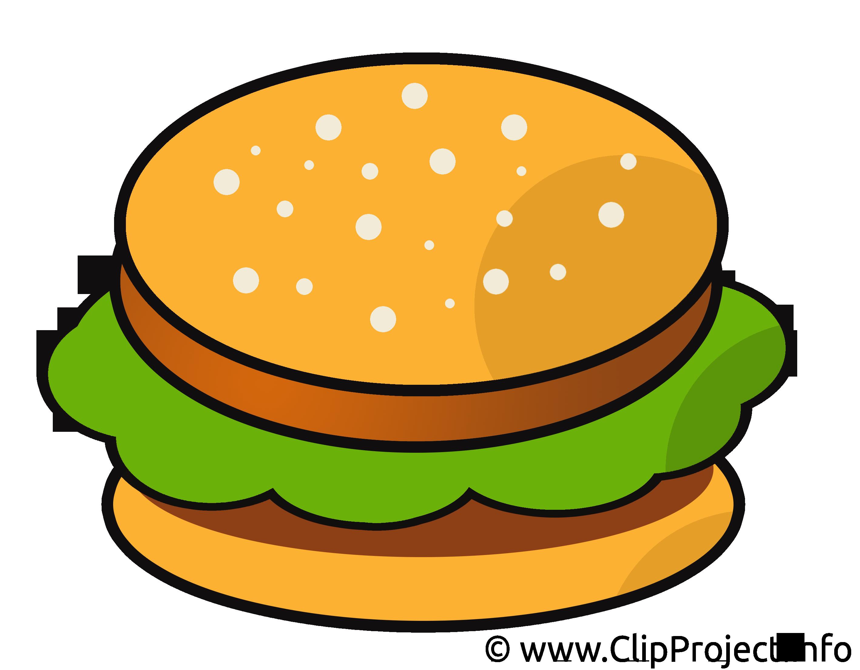 Hamburger dessin - Nourriture cliparts à télécharger