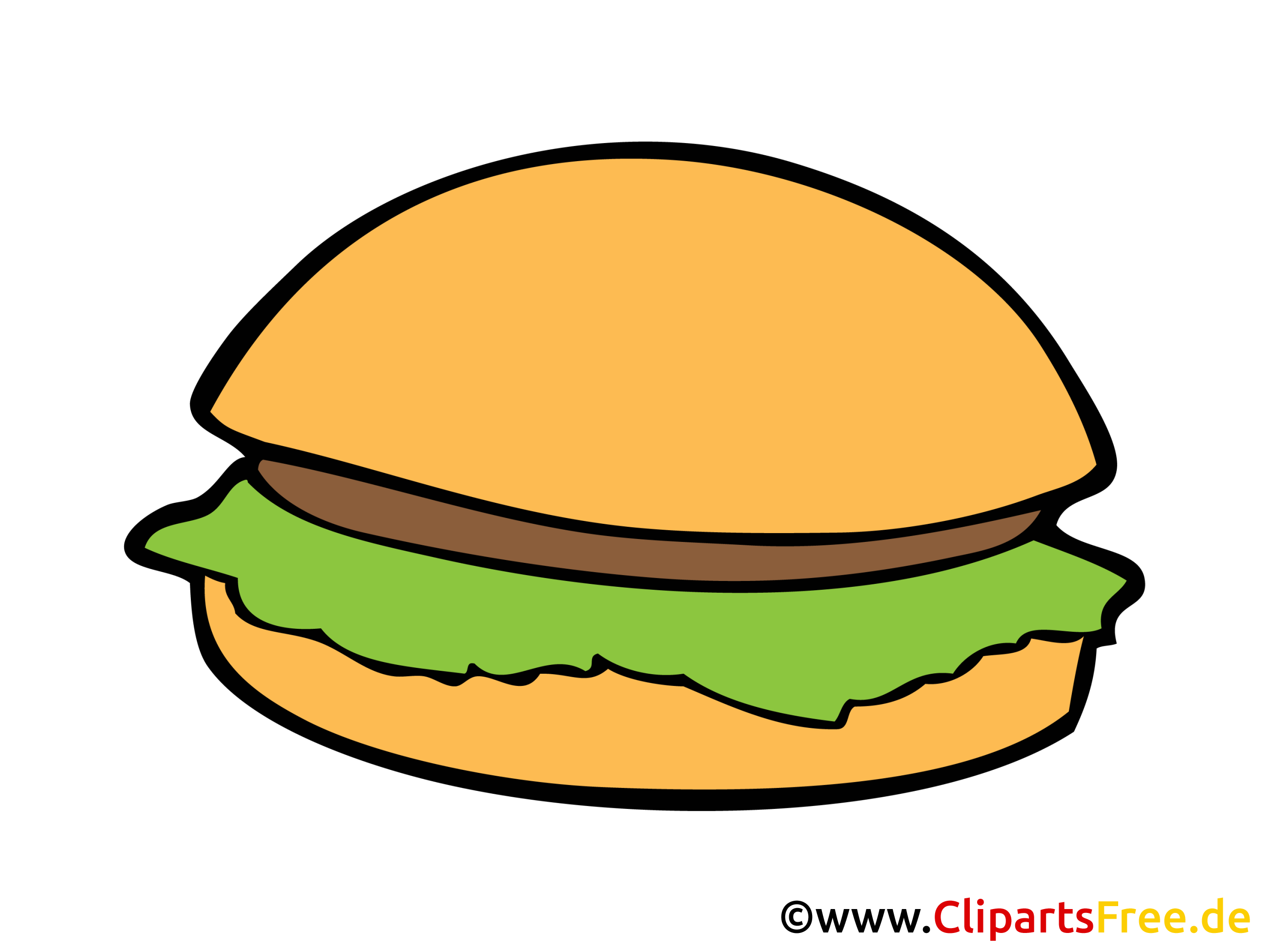 Hamburgers dessin - Nourriture cliparts à télécharger