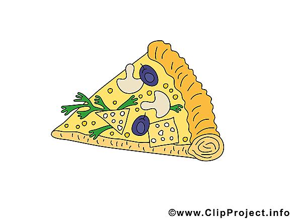 Morceau de pizza image - Nourriture clipart