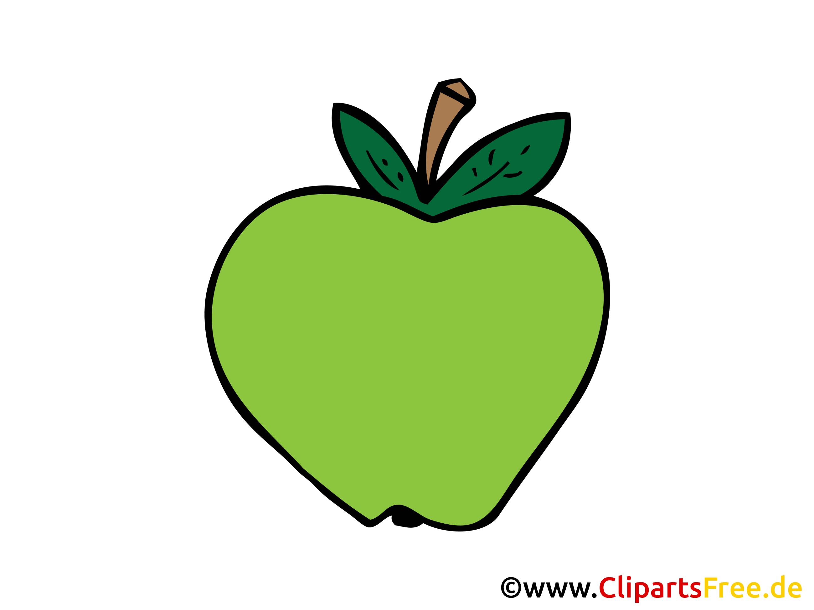 Pomme verte dessin gratuit - Nourriture image