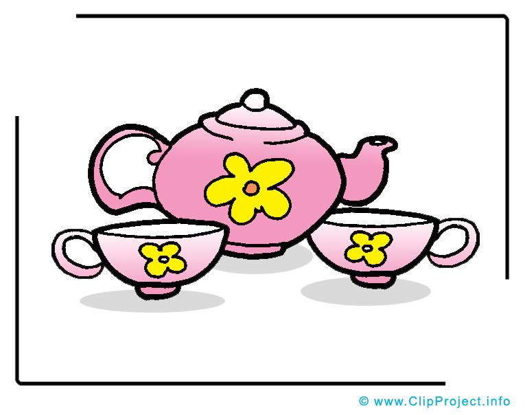 Service à thé image gratuite - Nourriture illustration