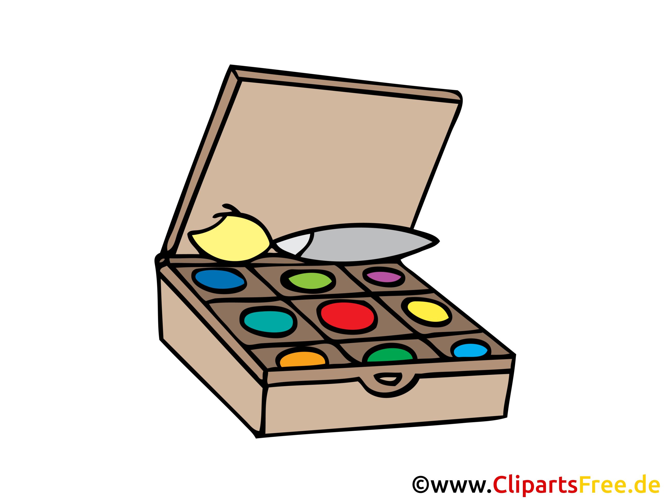 Boîte de peinture dessin gratuit clip arts
