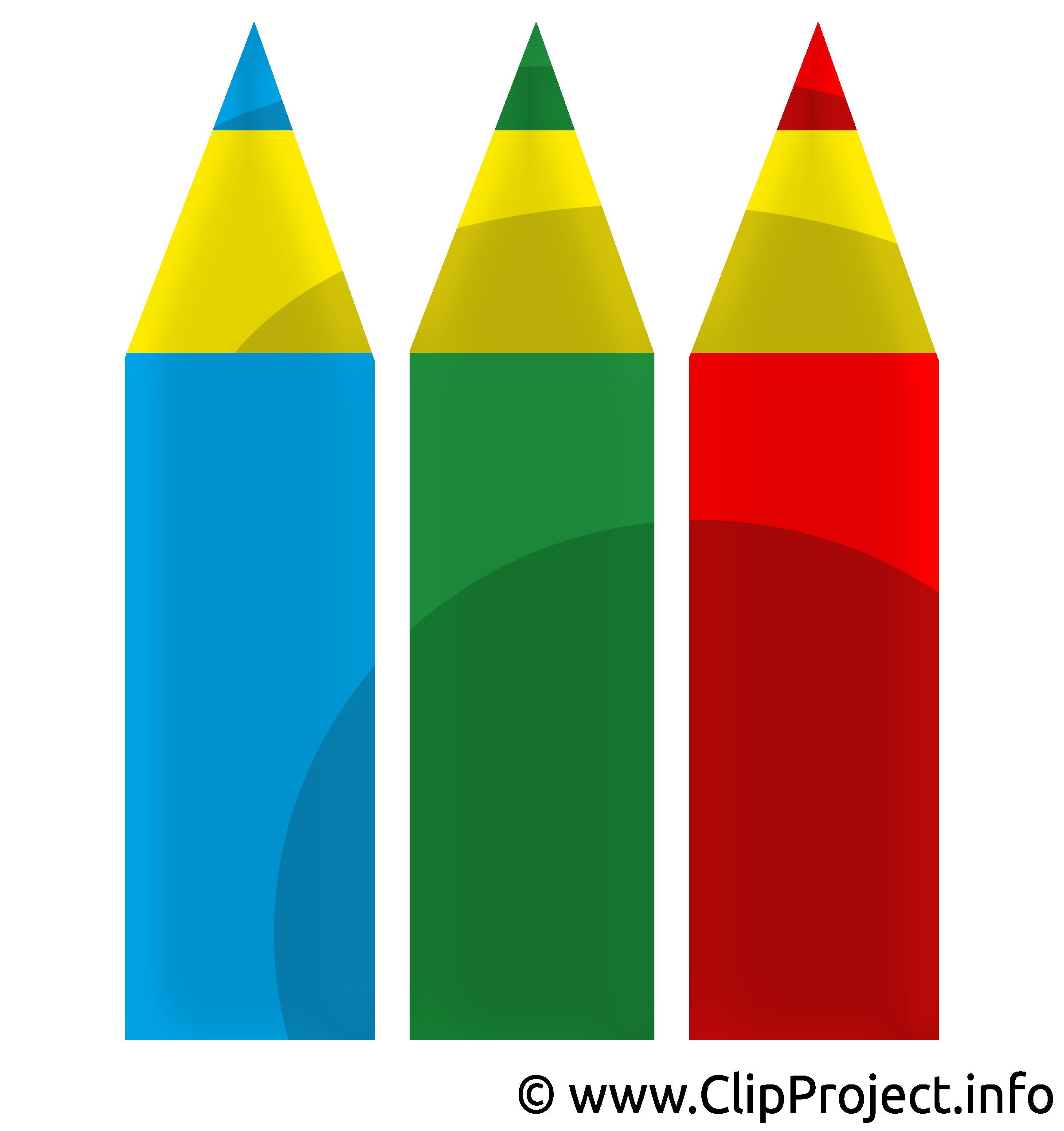 Crayons dessin gratuit clip arts