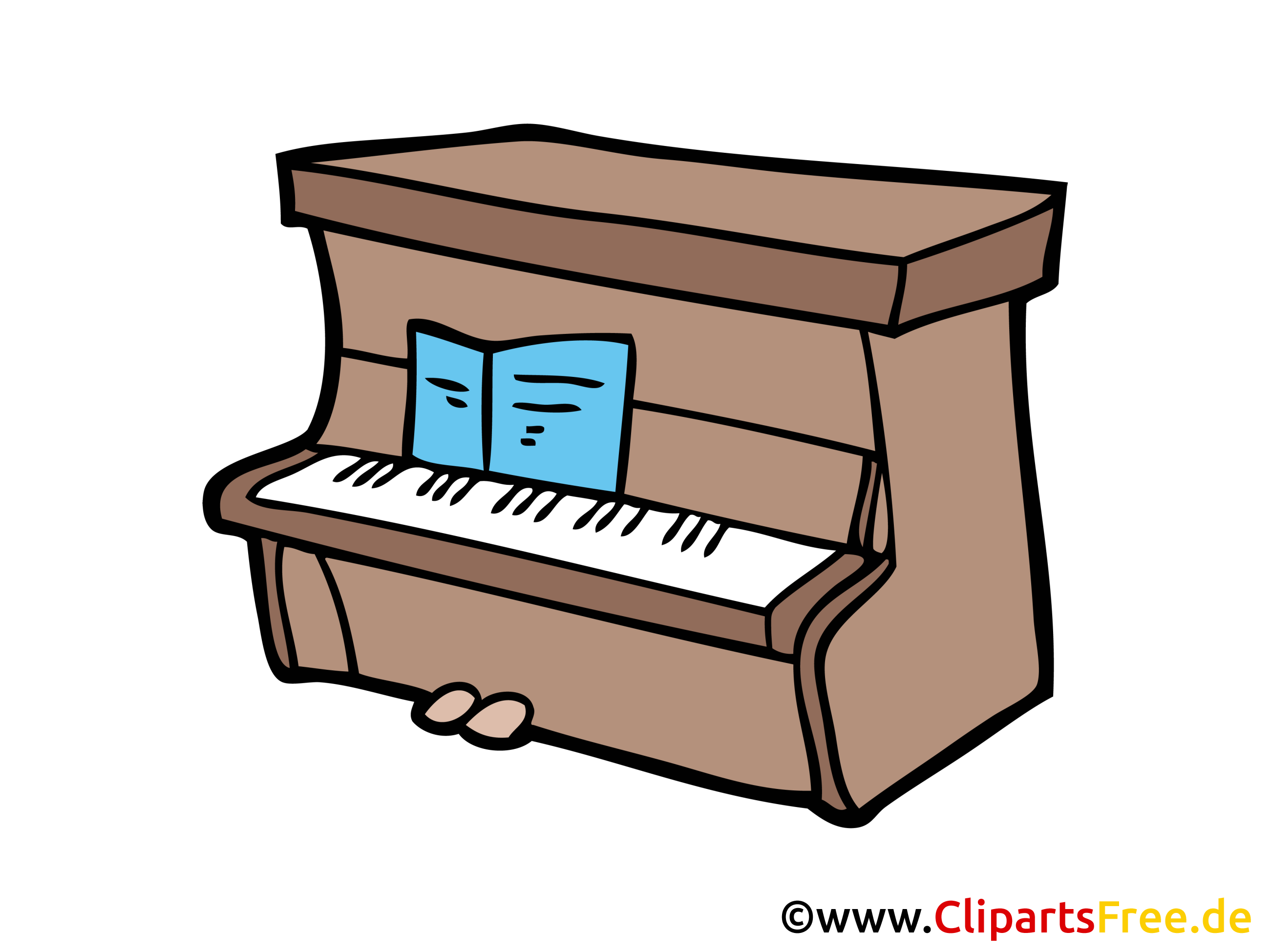 Piano illustration gratuite clipart