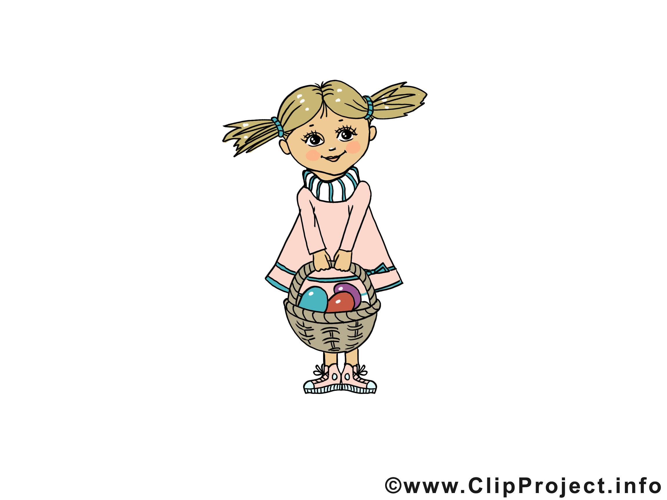 Femme clip arts gratuits - Pâques illustrations