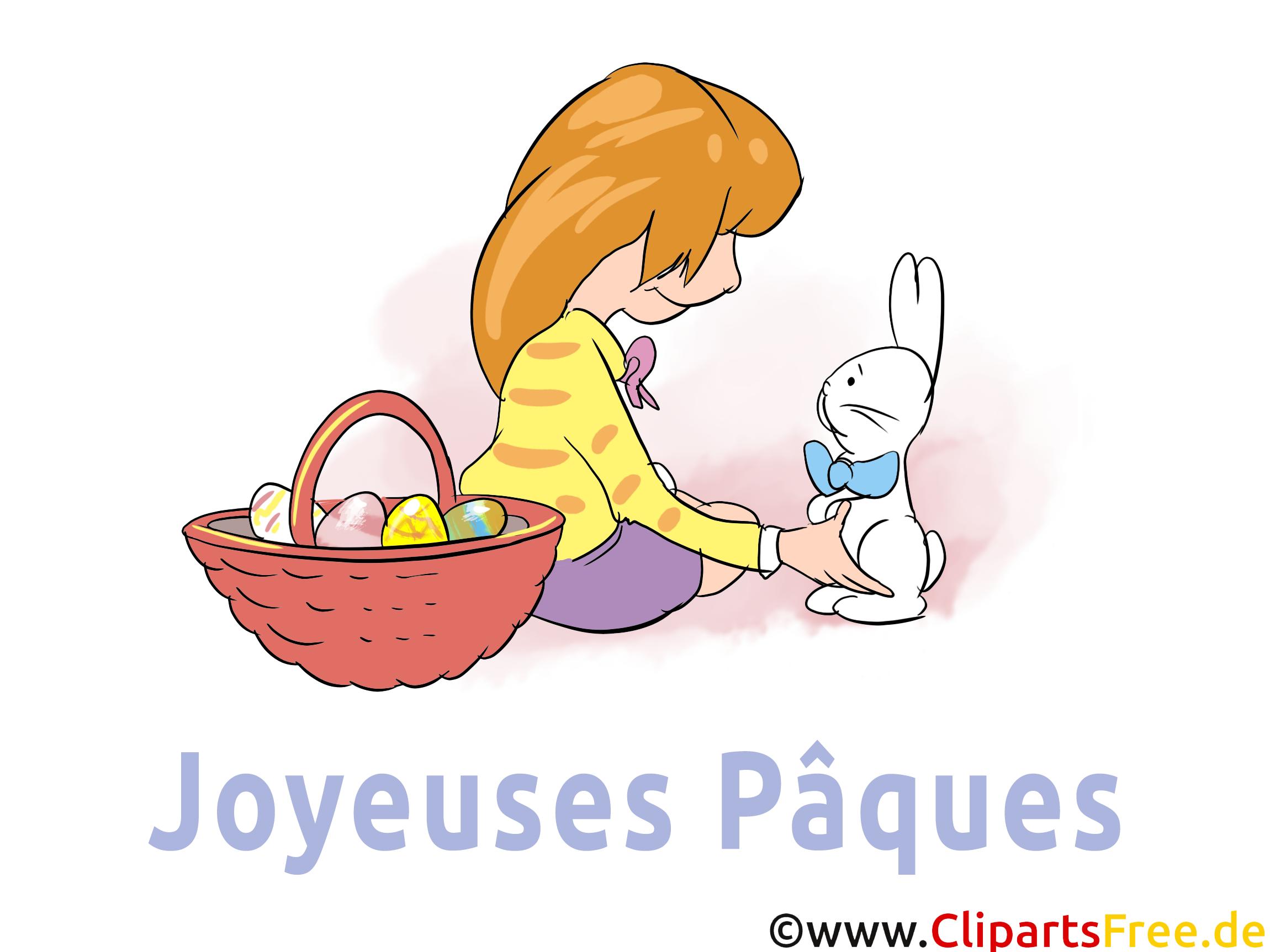 Femme lapin clipart gratuit - Pâques images