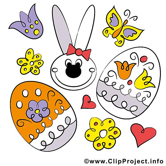 Fête illustration gratuite - Pâques clipart