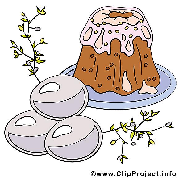 Gâteau clip art gratuit - Pâques dessin
