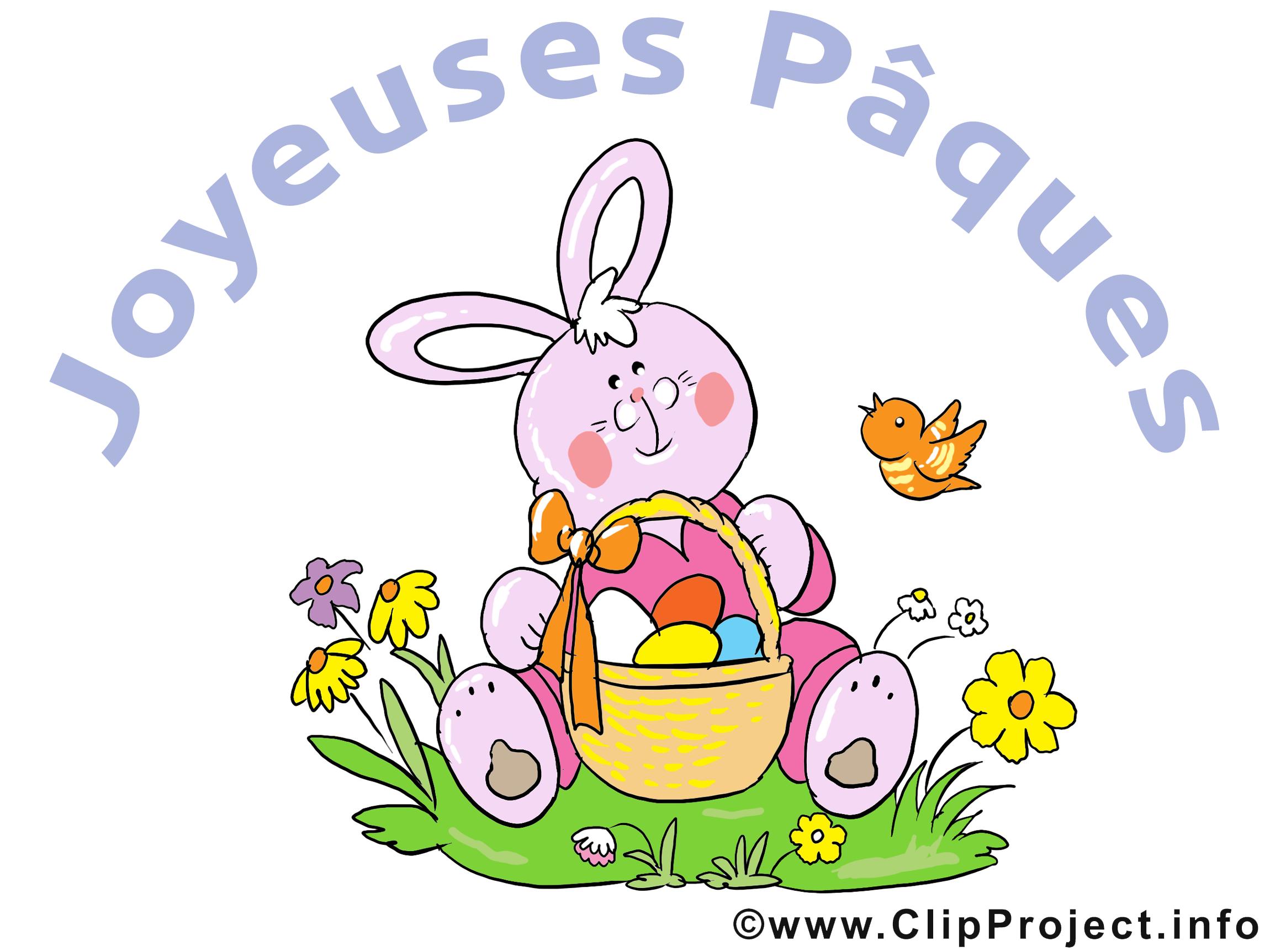 Lapin cliparts gratuis - Pâques images