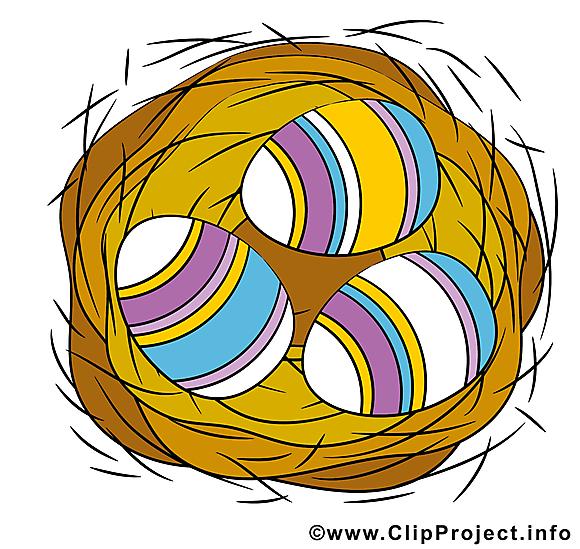 Panier clip arts gratuits - Pâques illustrations