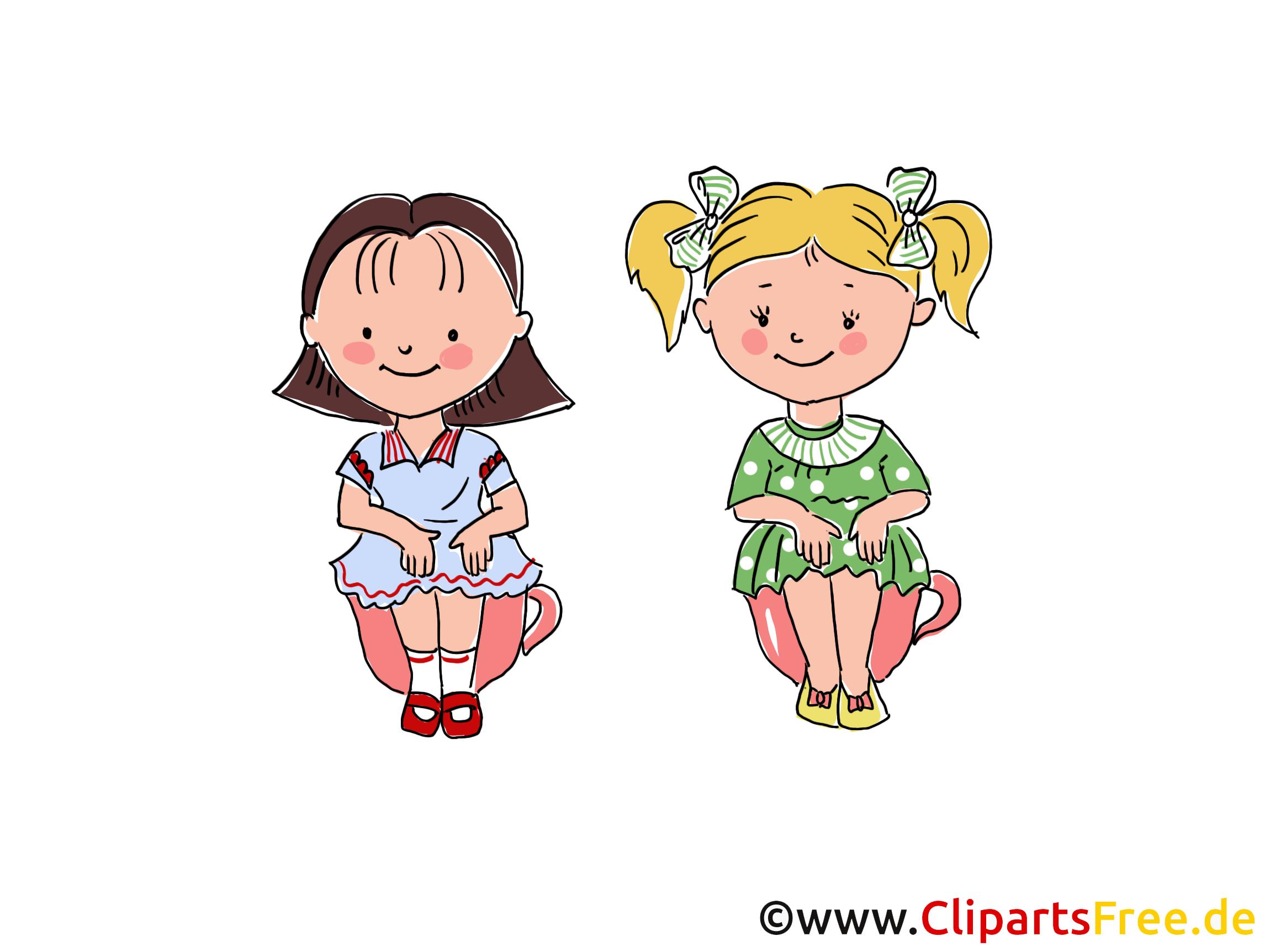 Filles dessin gratuit - Maternelle clip arts gratuits