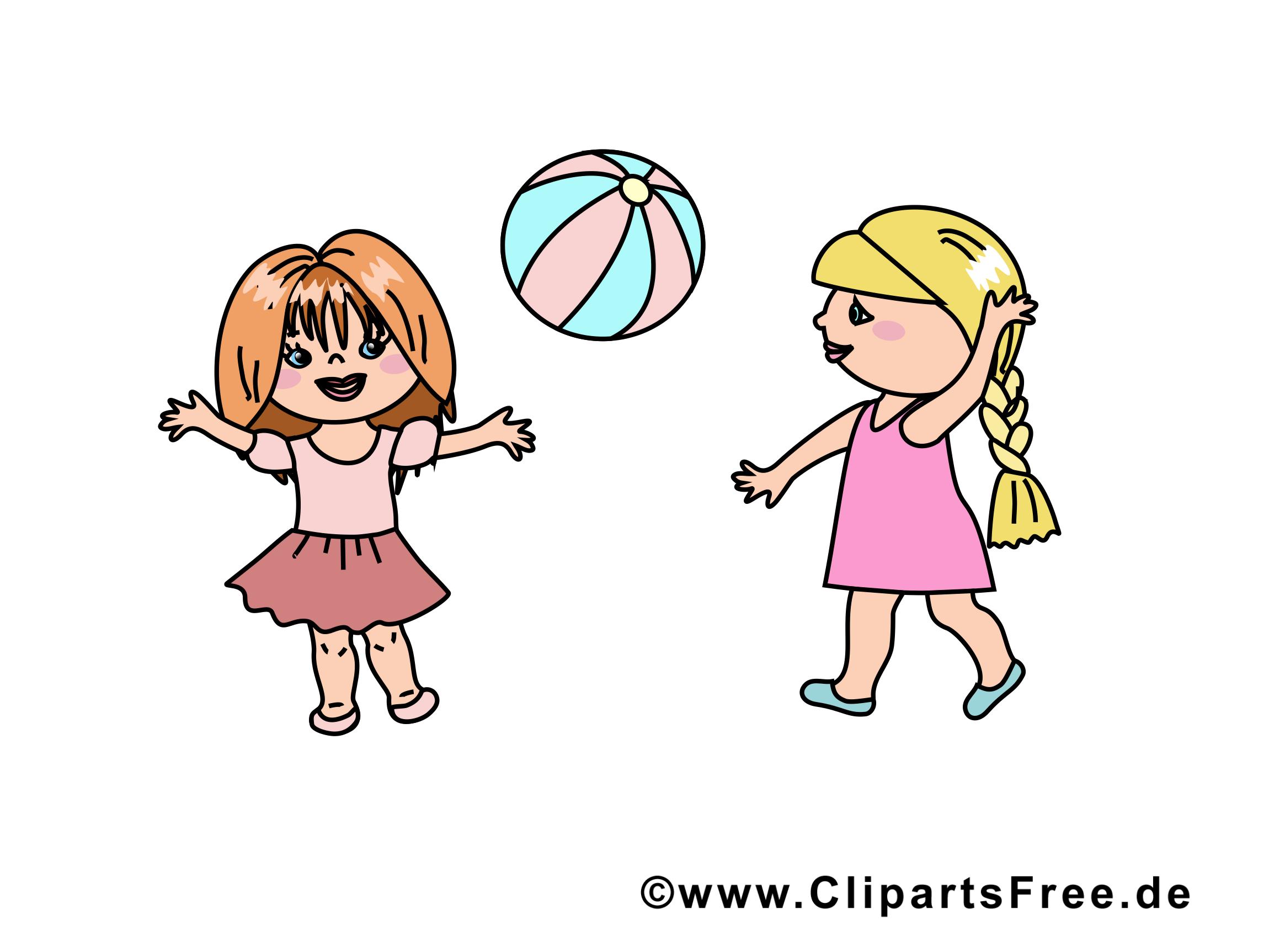 Jouer au ballon image - Maternelle clipart