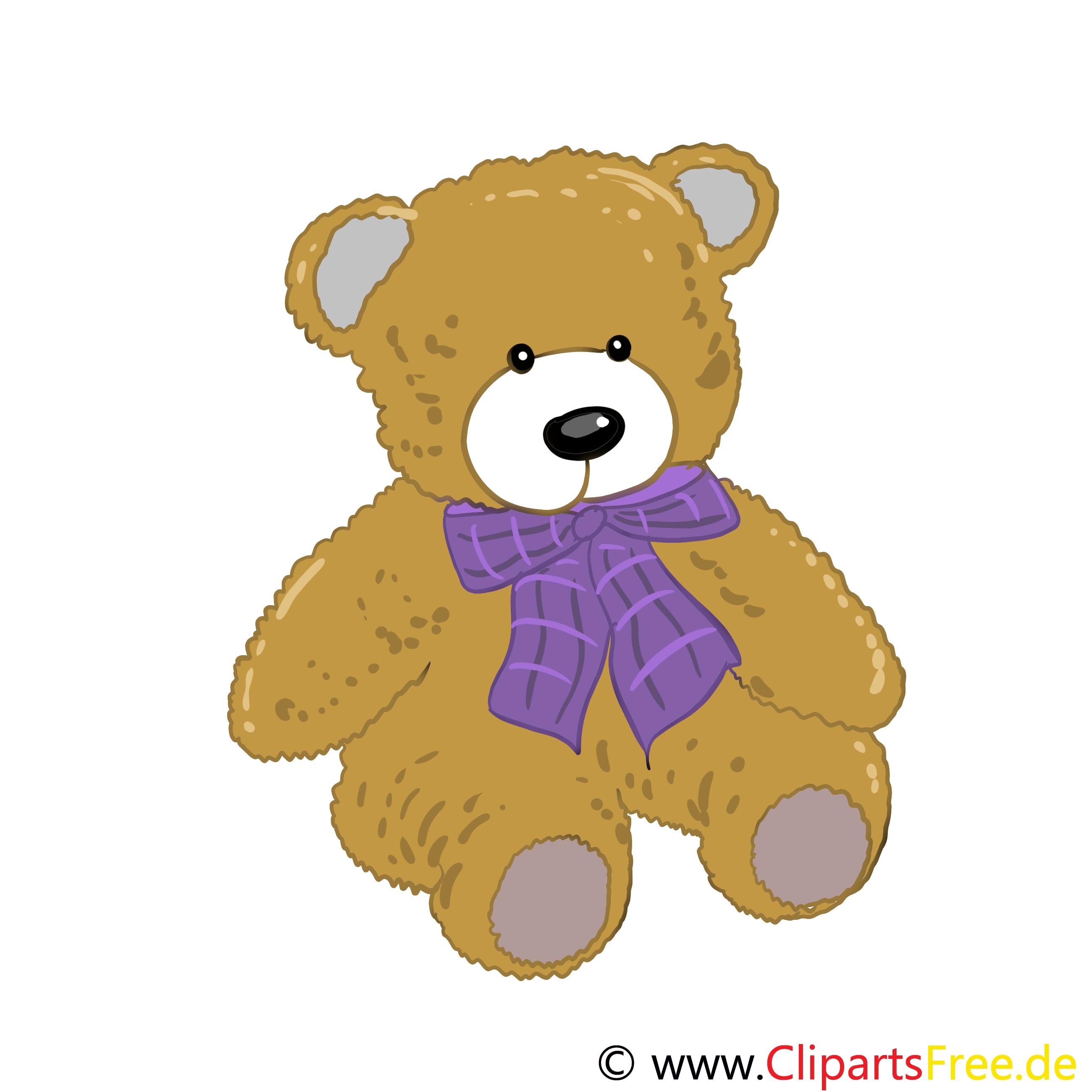 Ours en peluche dessins - Maternelle clipart gratuit