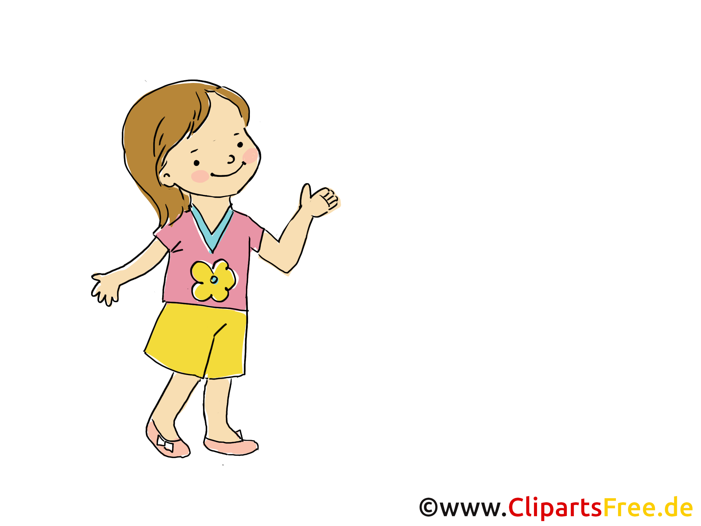 Petite fille cliparts - Maternelle images gratuites