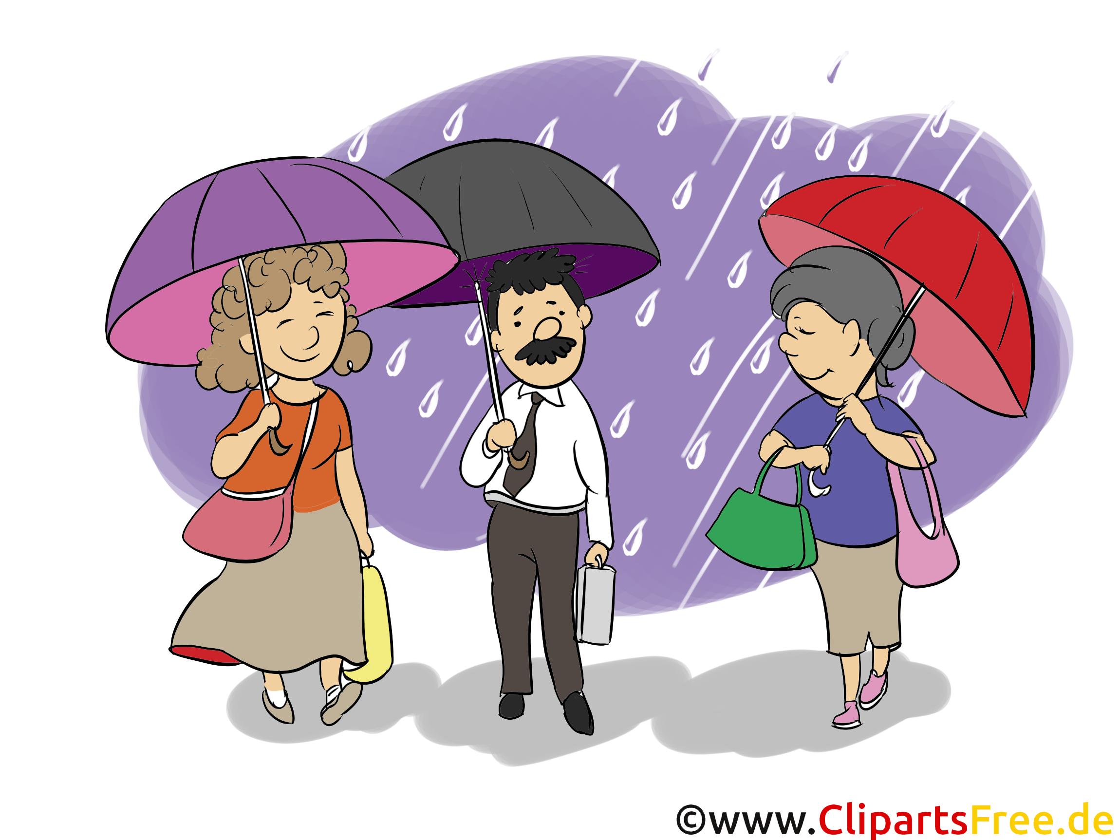 Gens sous parapluie clip arts gratuits illustrations