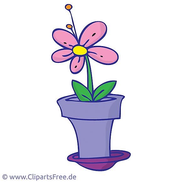 Fleur clip art – Pot image gratuite