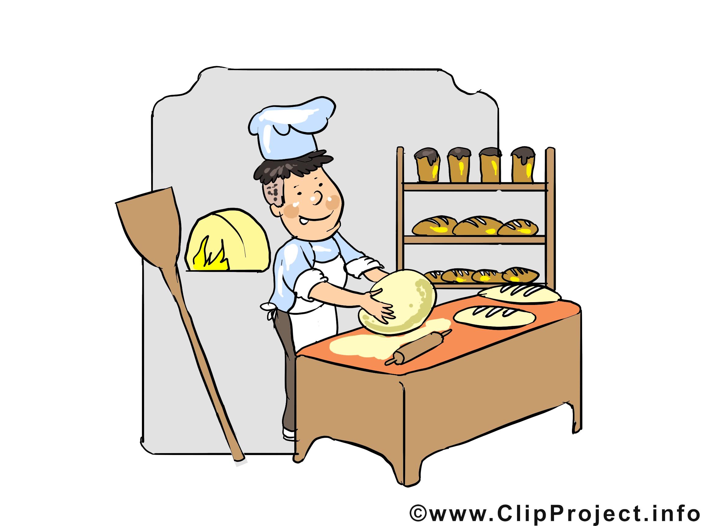 Boulanger images m tier dessins gratuits profession - Coloriage boulangerie ...