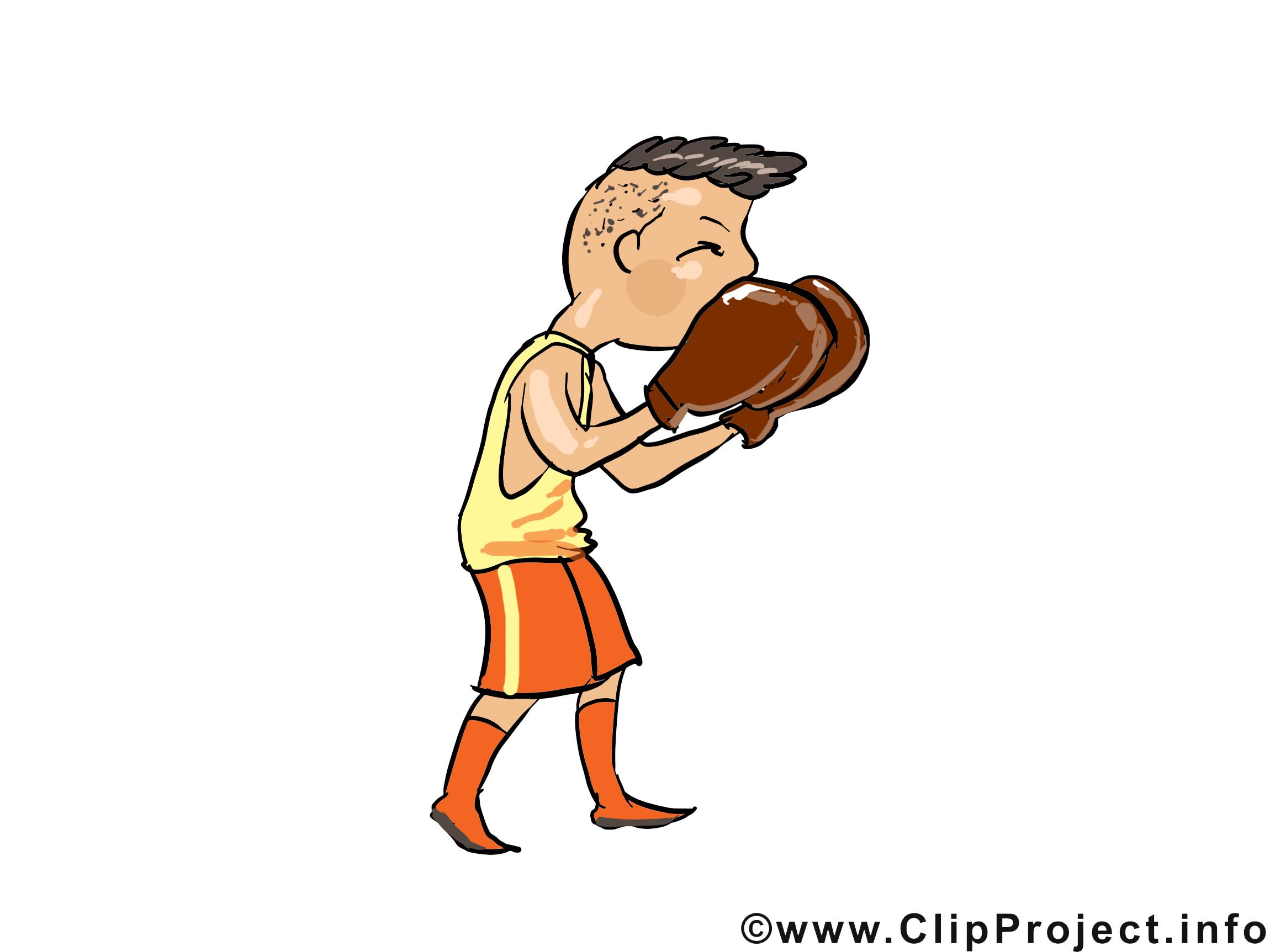 Boxeur clip art – Profession image gratuite
